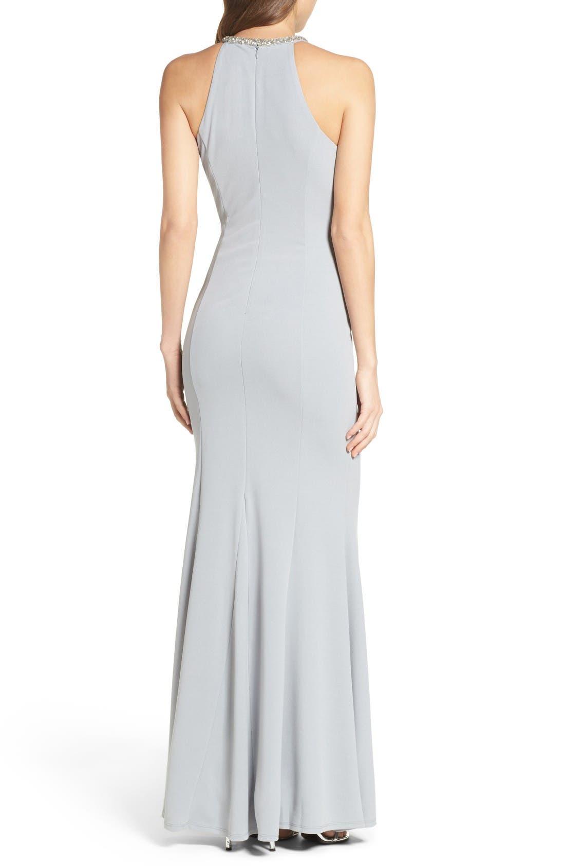 Alternate Image 2  - Lulus Bead Neck Mermaid Gown