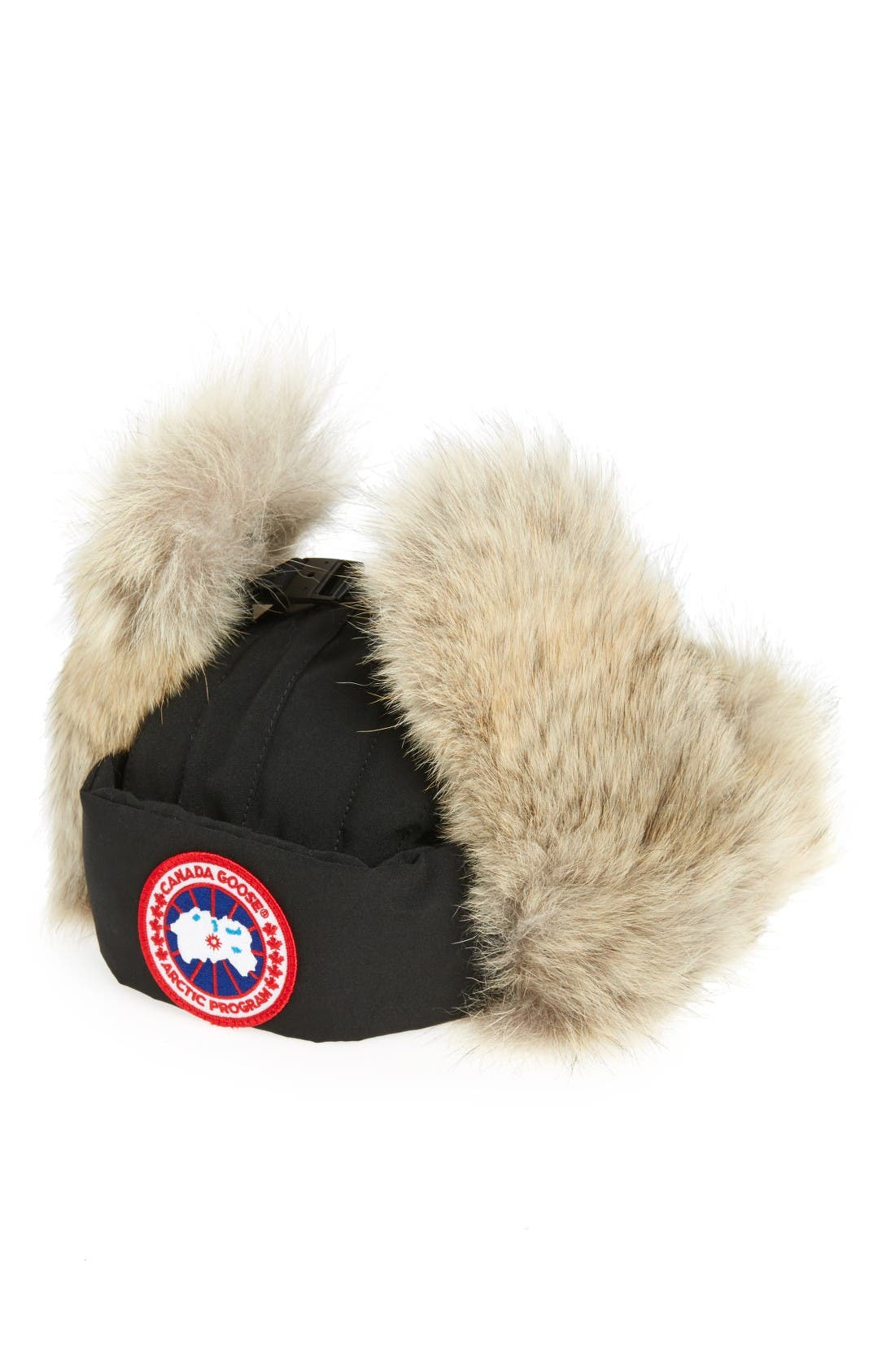 Canada Goose Down Fill Aviator Hat with Genuine Coyote Fur Trim