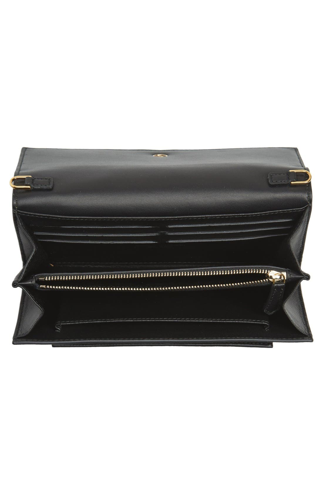 Alternate Image 2  - Alexander McQueen Skull Leather Wallet on a Chain