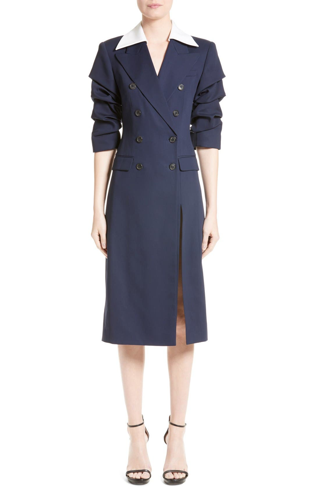 MICHAEL KORS Wool & Silk Coat Dress