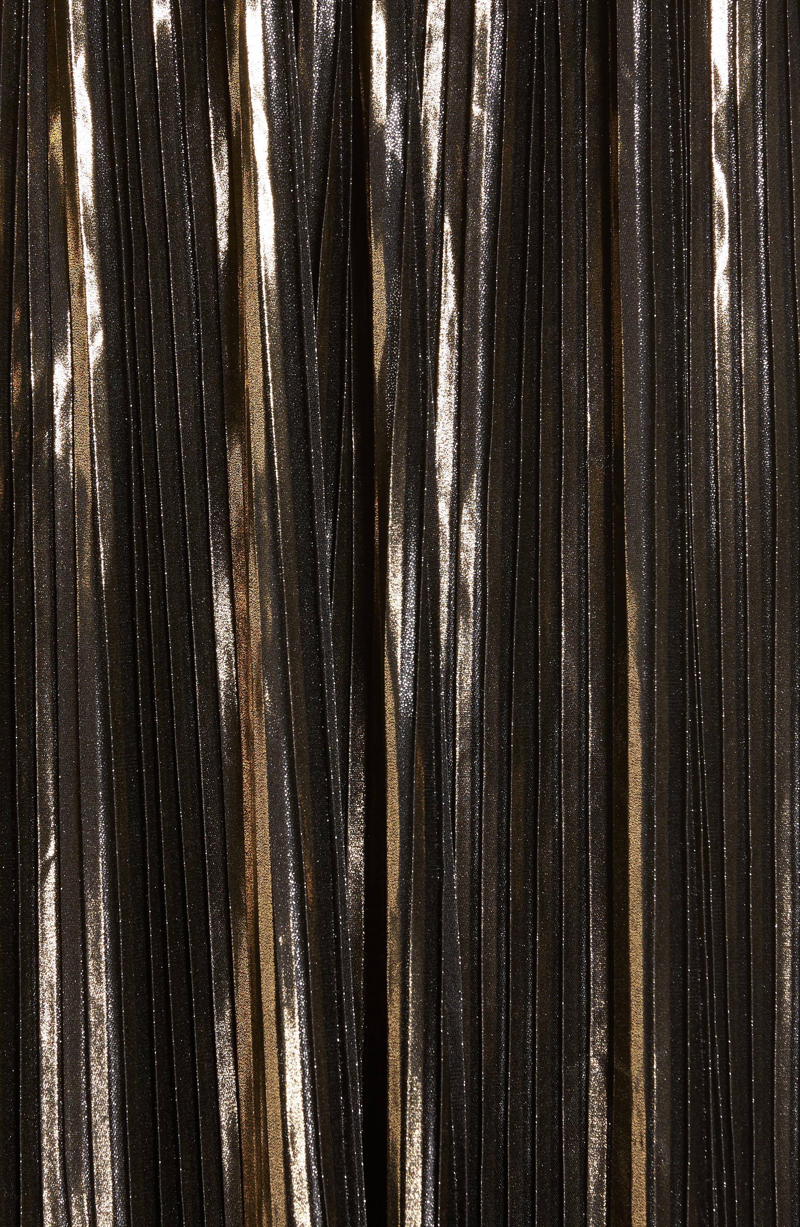 Alternate Image 5  - Trouvé Shine Pleat Midi Skirt