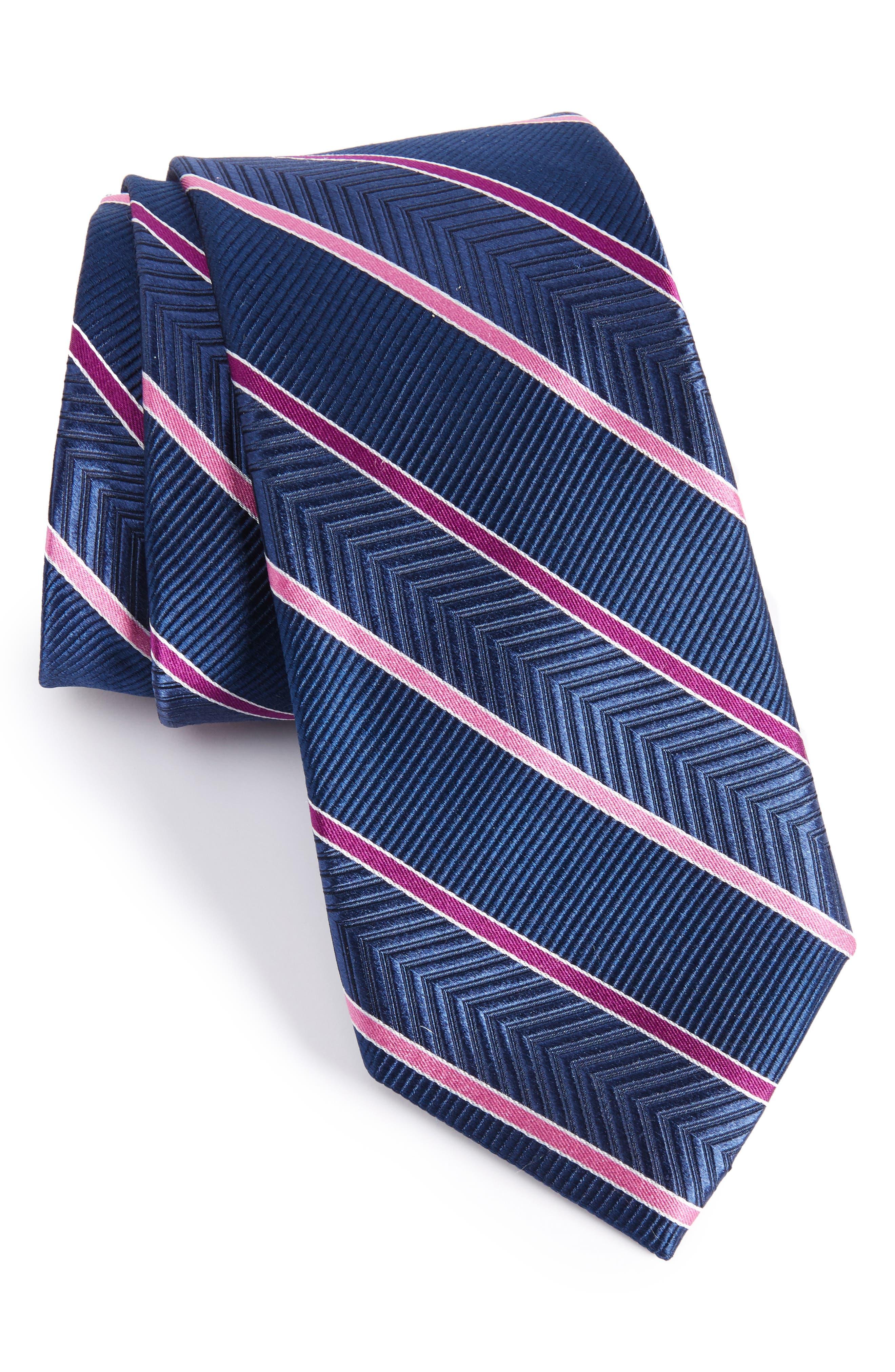 NORDSTROM MEN'S SHOP Chevron Stripe Silk Tie
