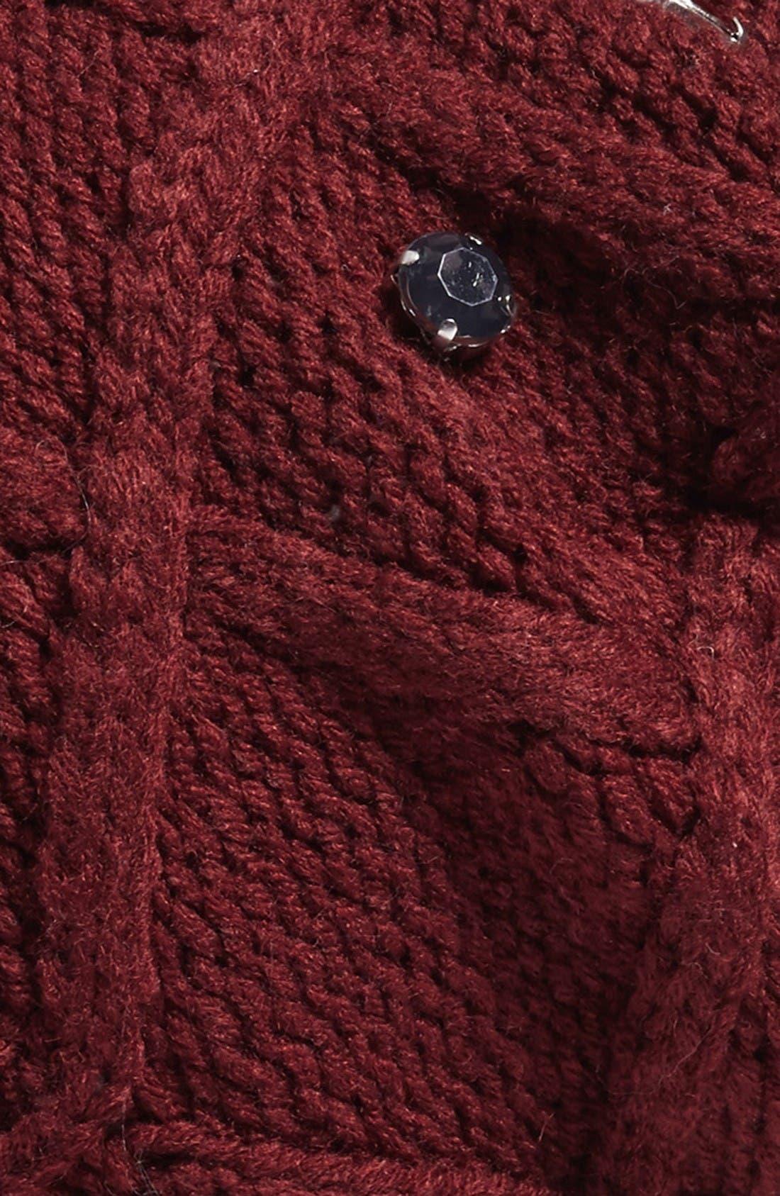 Alternate Image 2  - Halogen® Embellished Knit Beanie