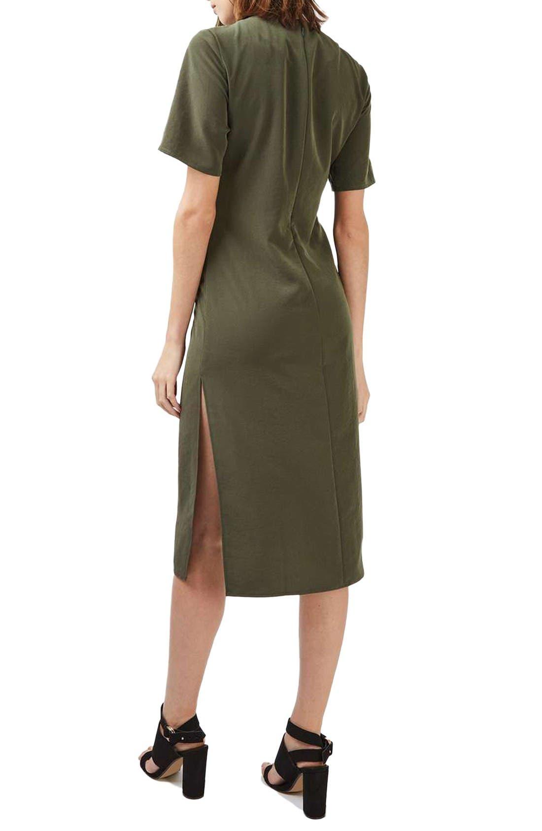 Alternate Image 2  - Topshop Front Knot Dress