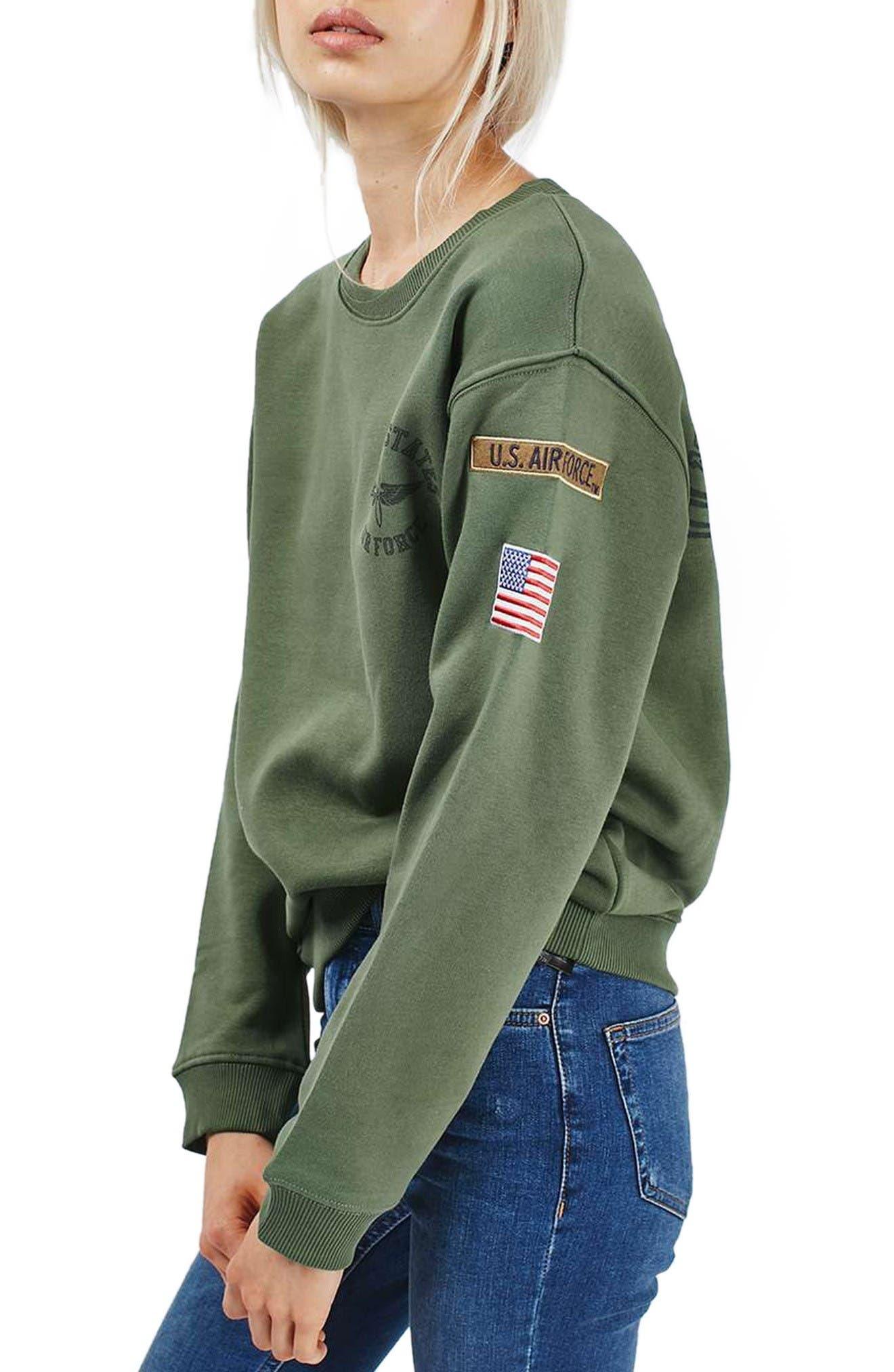 Alternate Image 1 Selected - Topshop by Tee & Cake Air Force Sweatshirt
