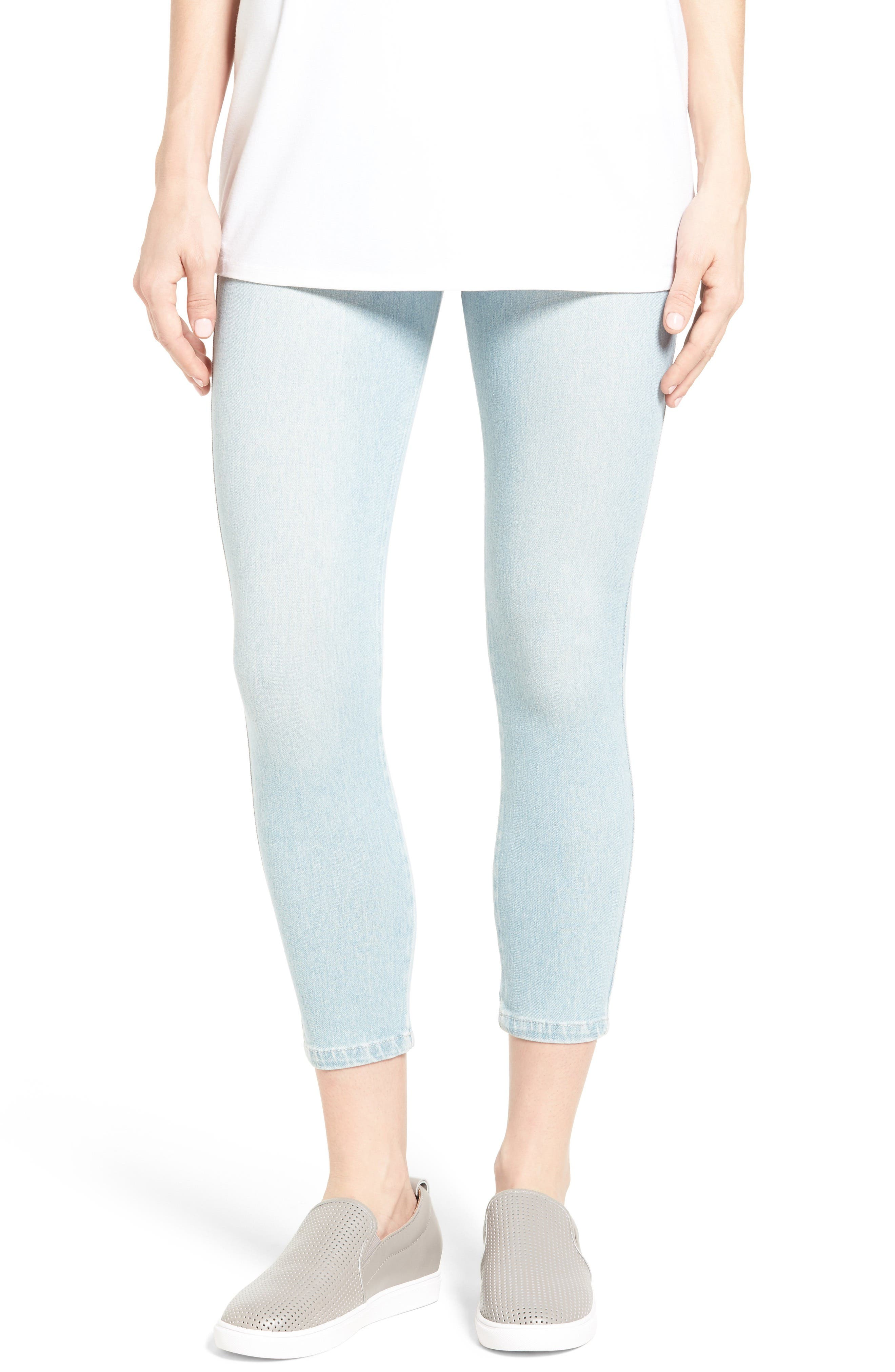 Lyssé Toothpick High Rise Crop Denim Leggings