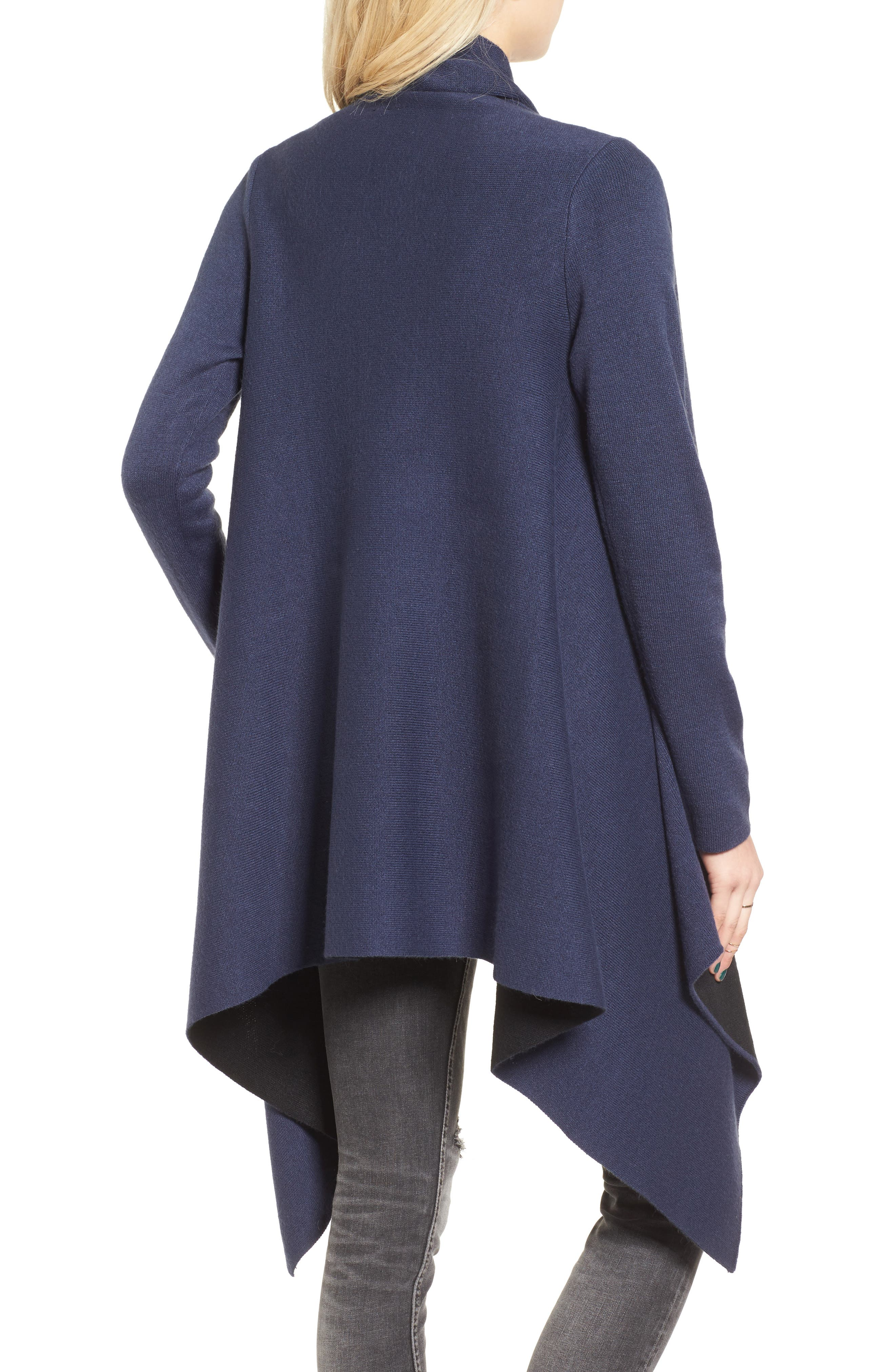 Alternate Image 2  - Love by Design Two-Tone Open Front Cardigan