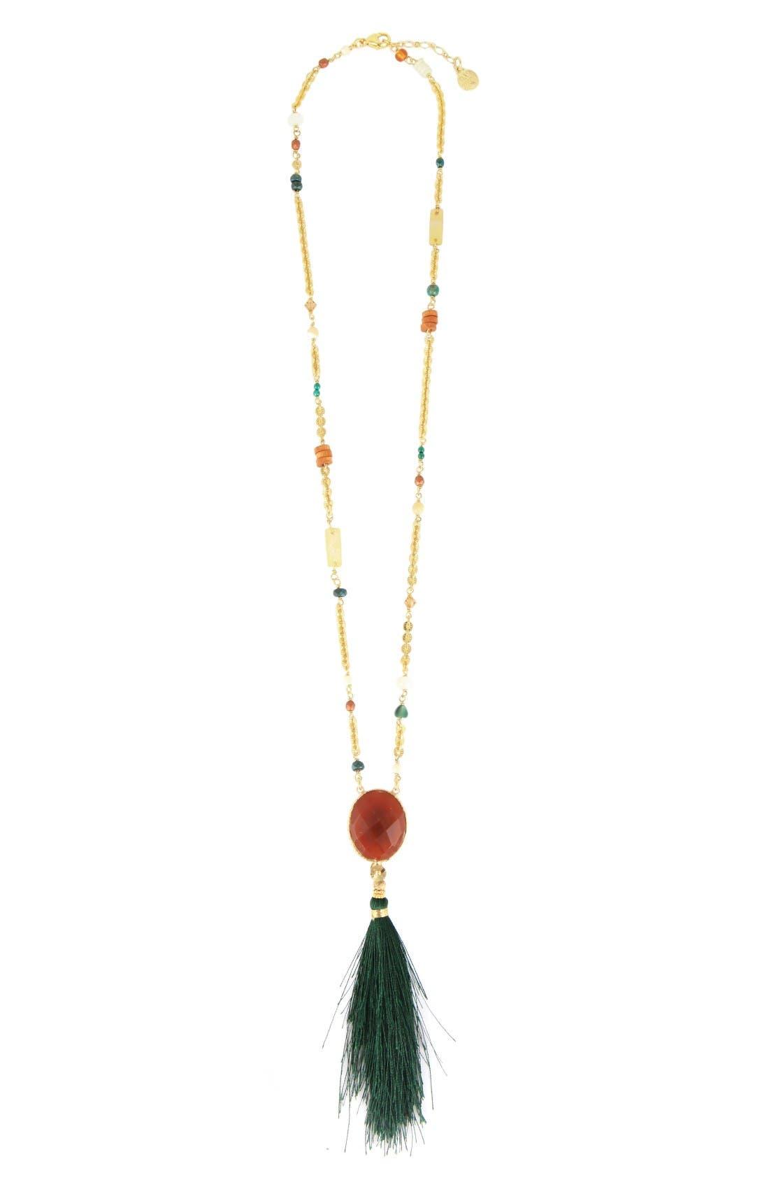 Gas Bijoux Serti Holly Tassel Necklace