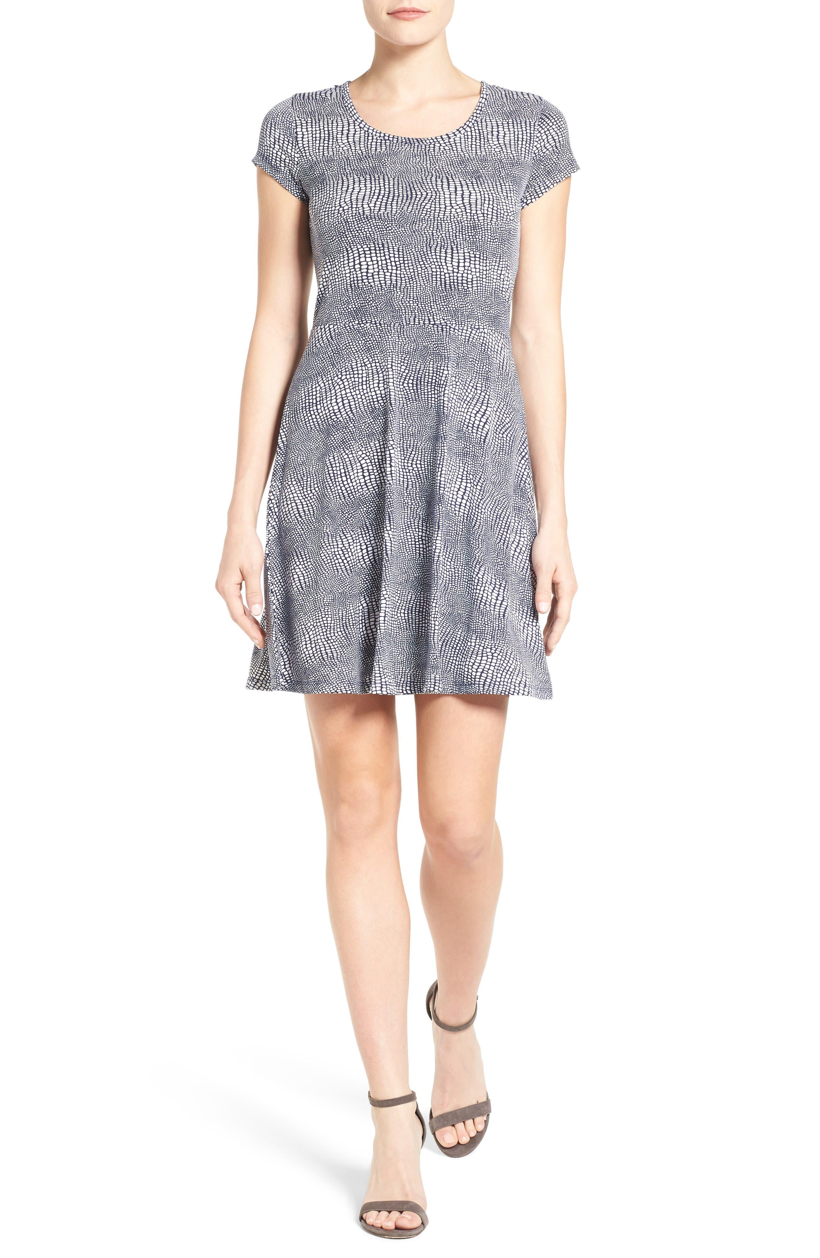 MICHAEL Michael Kors Zephyr Fit & Flare Dress (Regular & Petite)