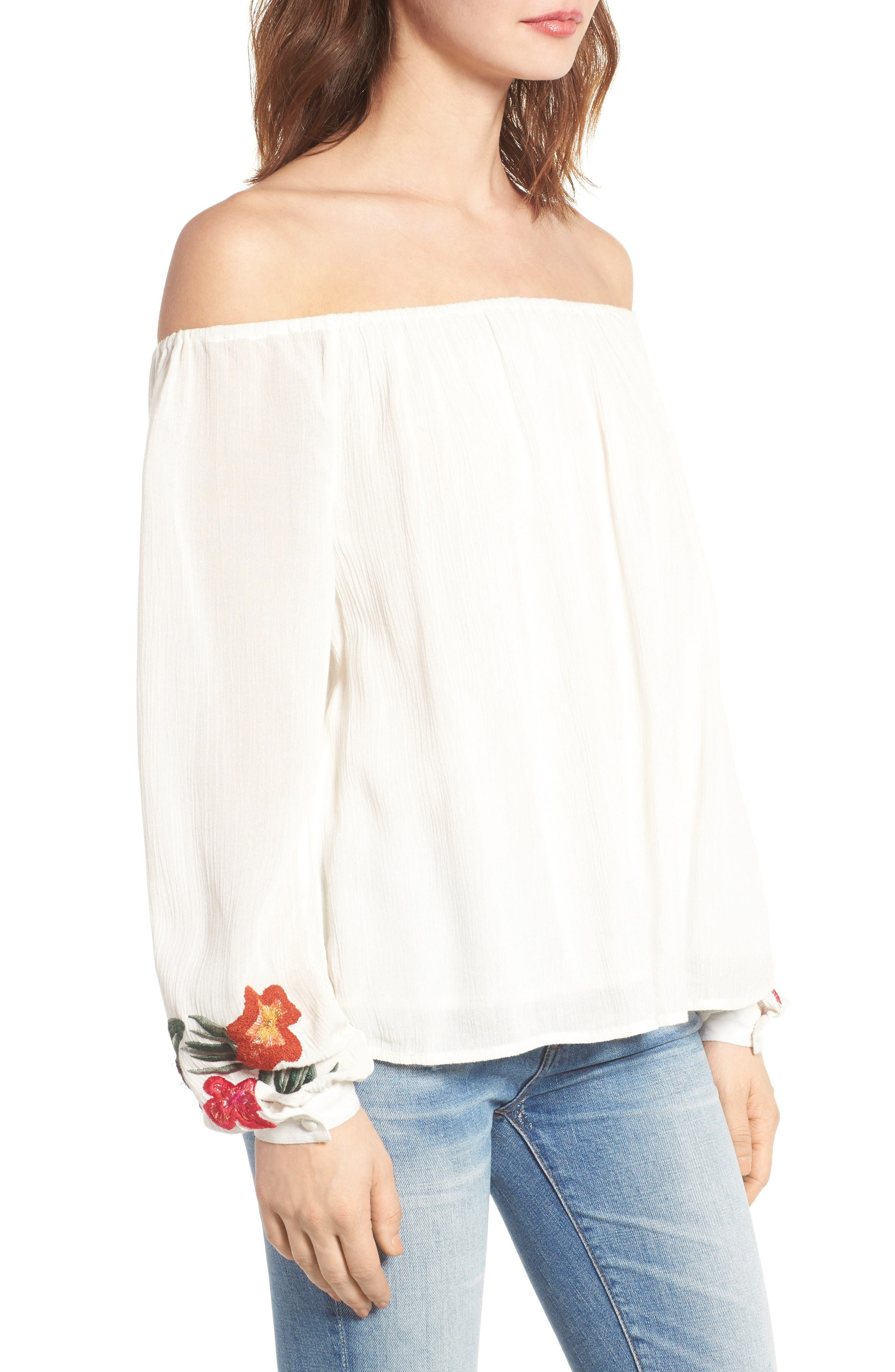 Alternate Image 4  - Lovers + Friends Over the Sea Off the Shoulder Blouse