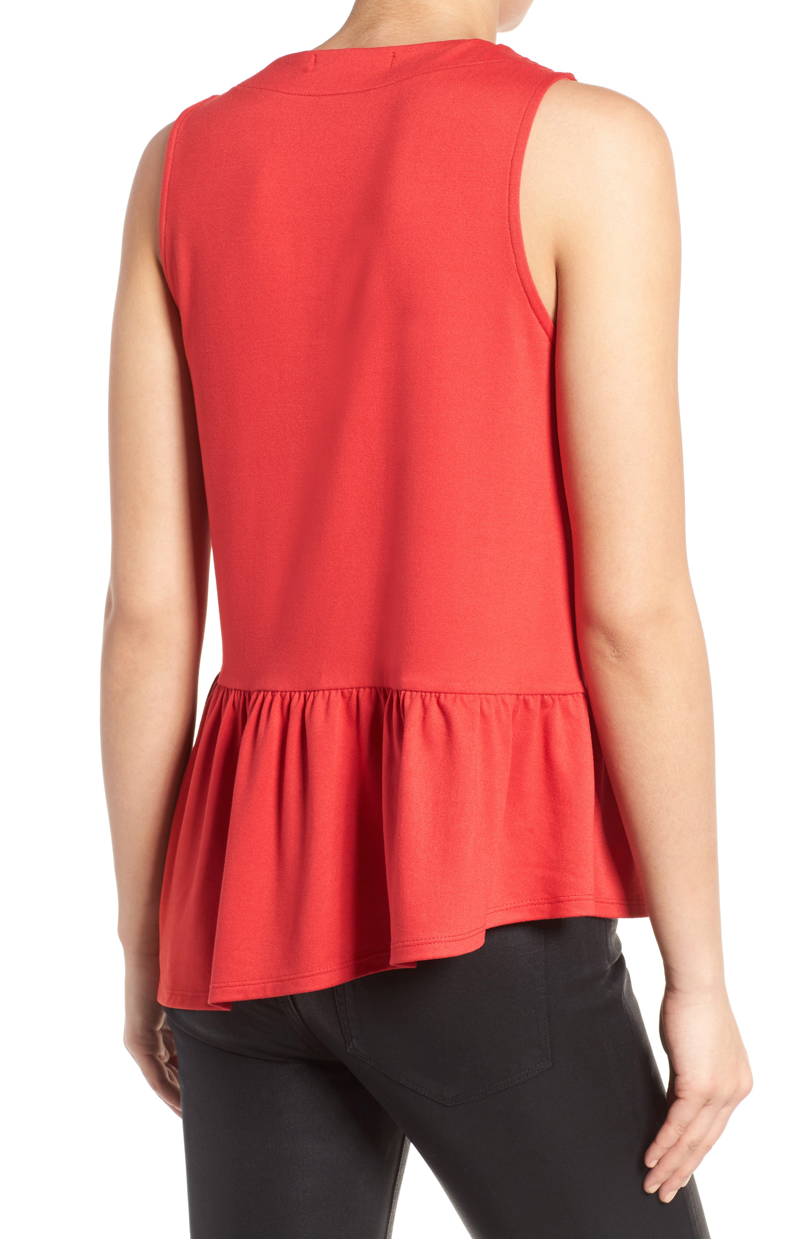 Alternate Image 2  - Gibson Asymmetrical Ruffle Hem Top (Regular & Petite)
