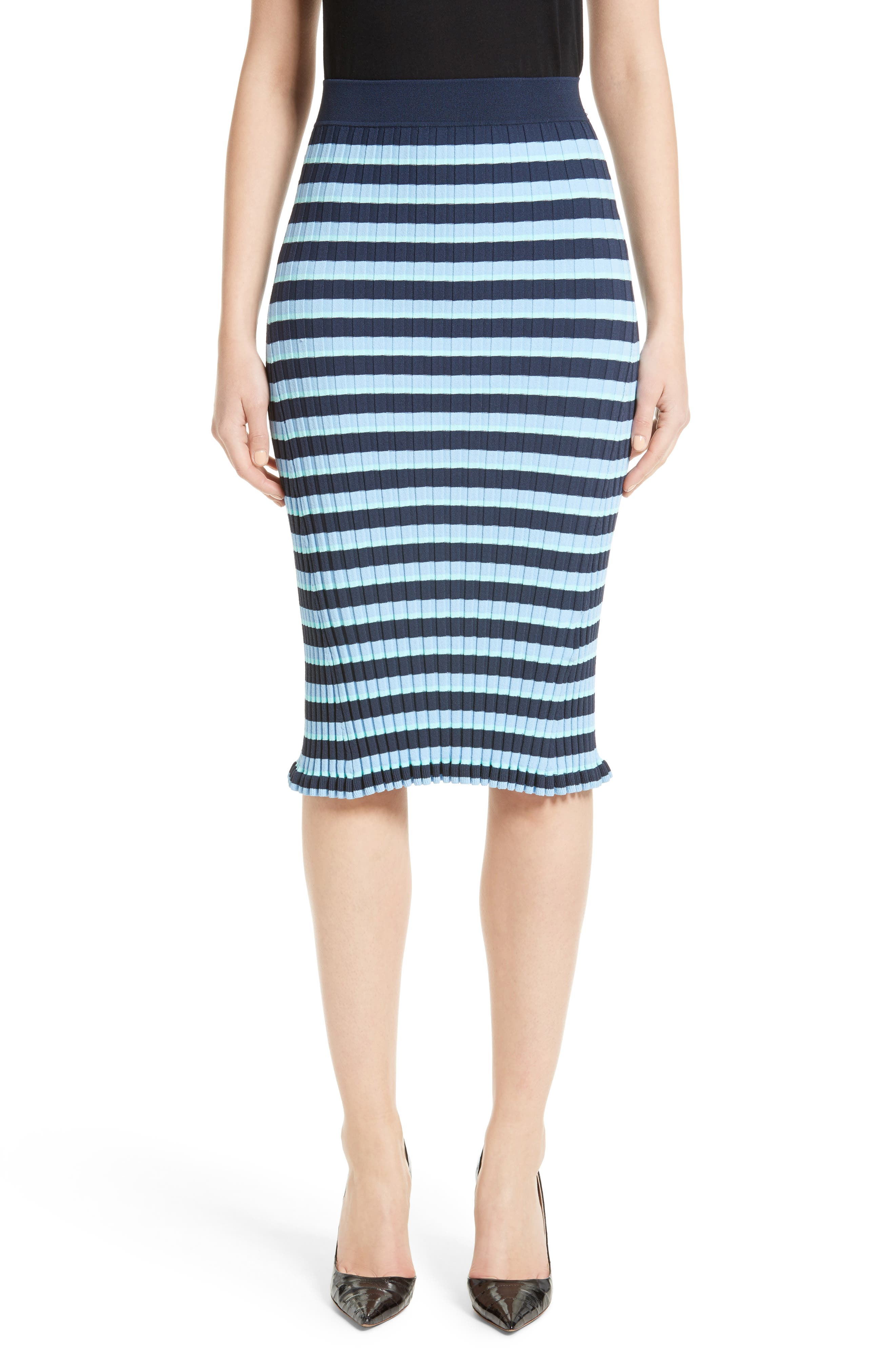 ALTUZARRA Bloomfield Stripe Skirt