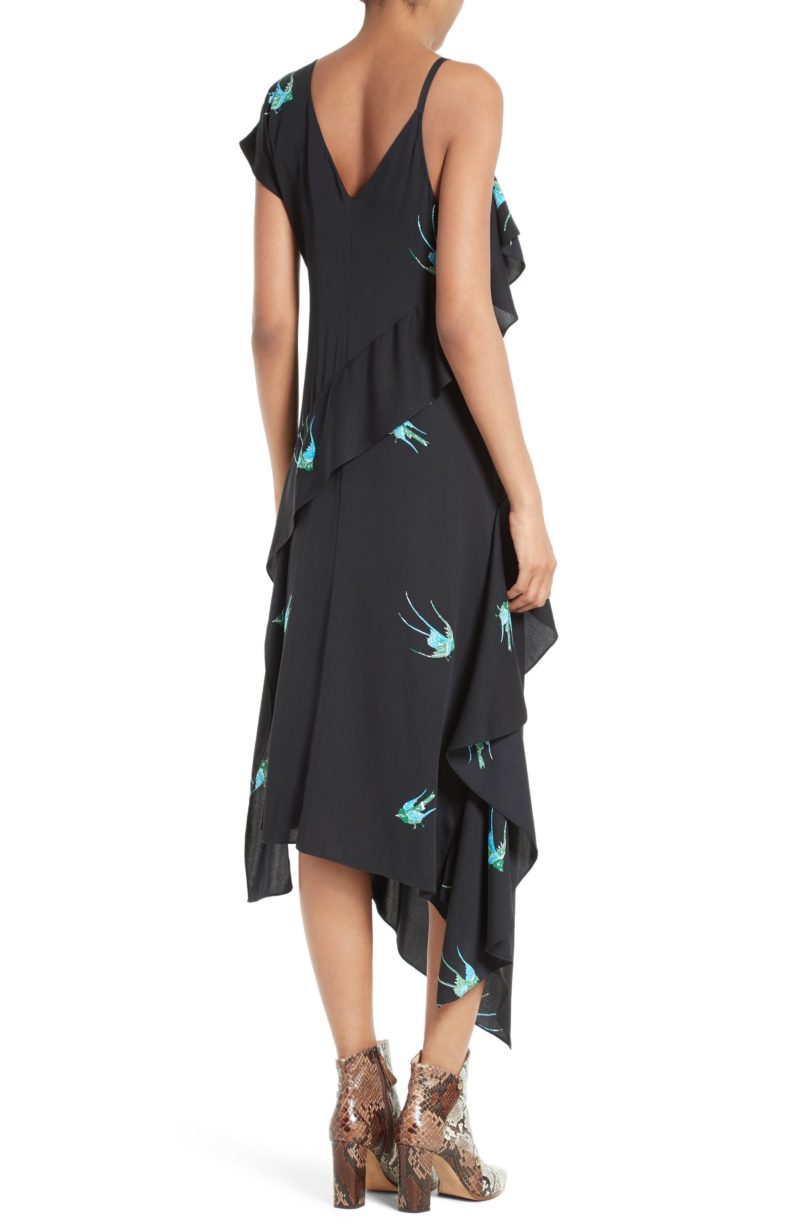 Alternate Image 2  - Diane von Furstenberg Asymmetrical Ruffle Midi Dress