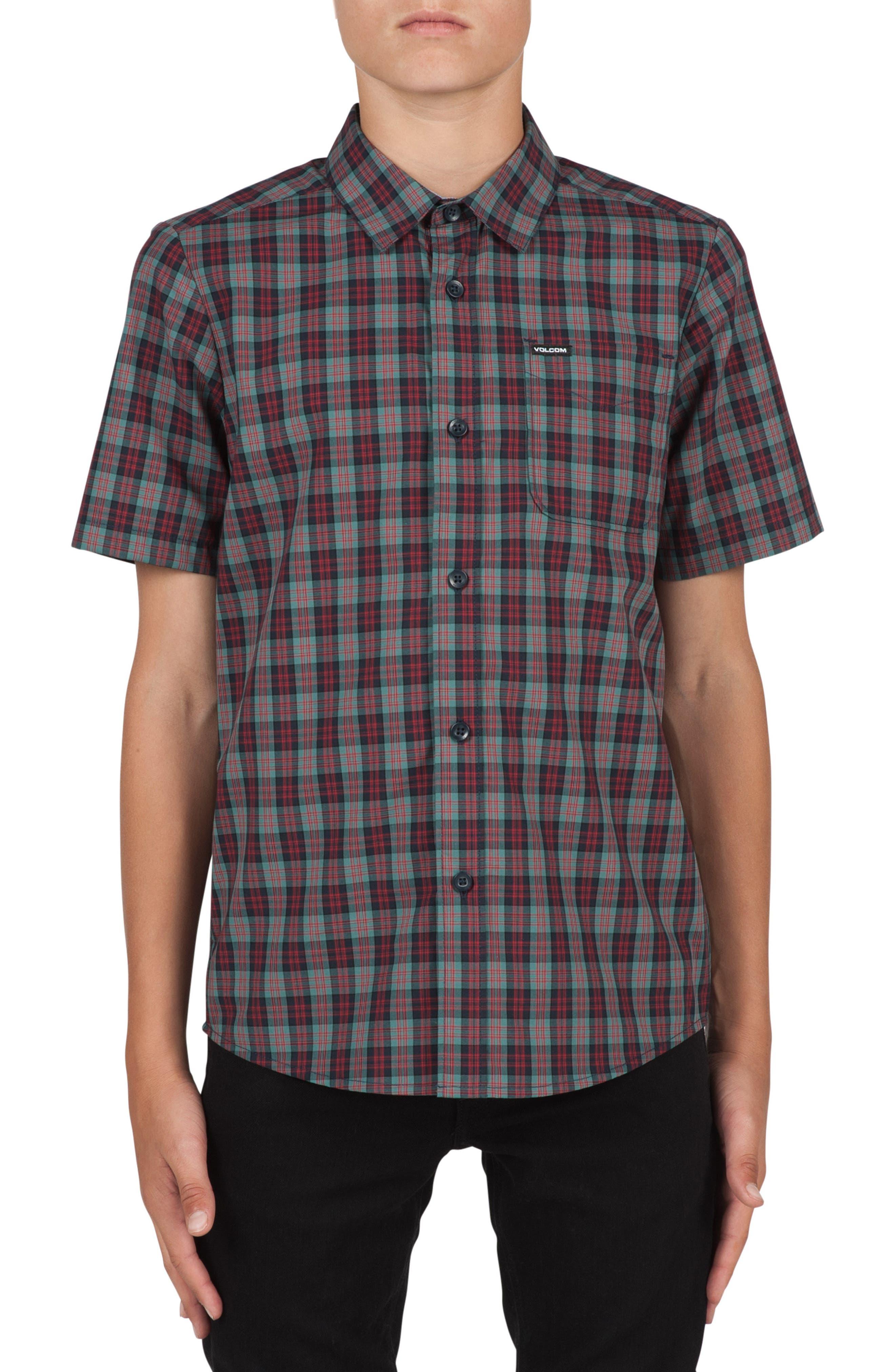 Volcom Amerson Plaid Woven Shirt (Big Boys)