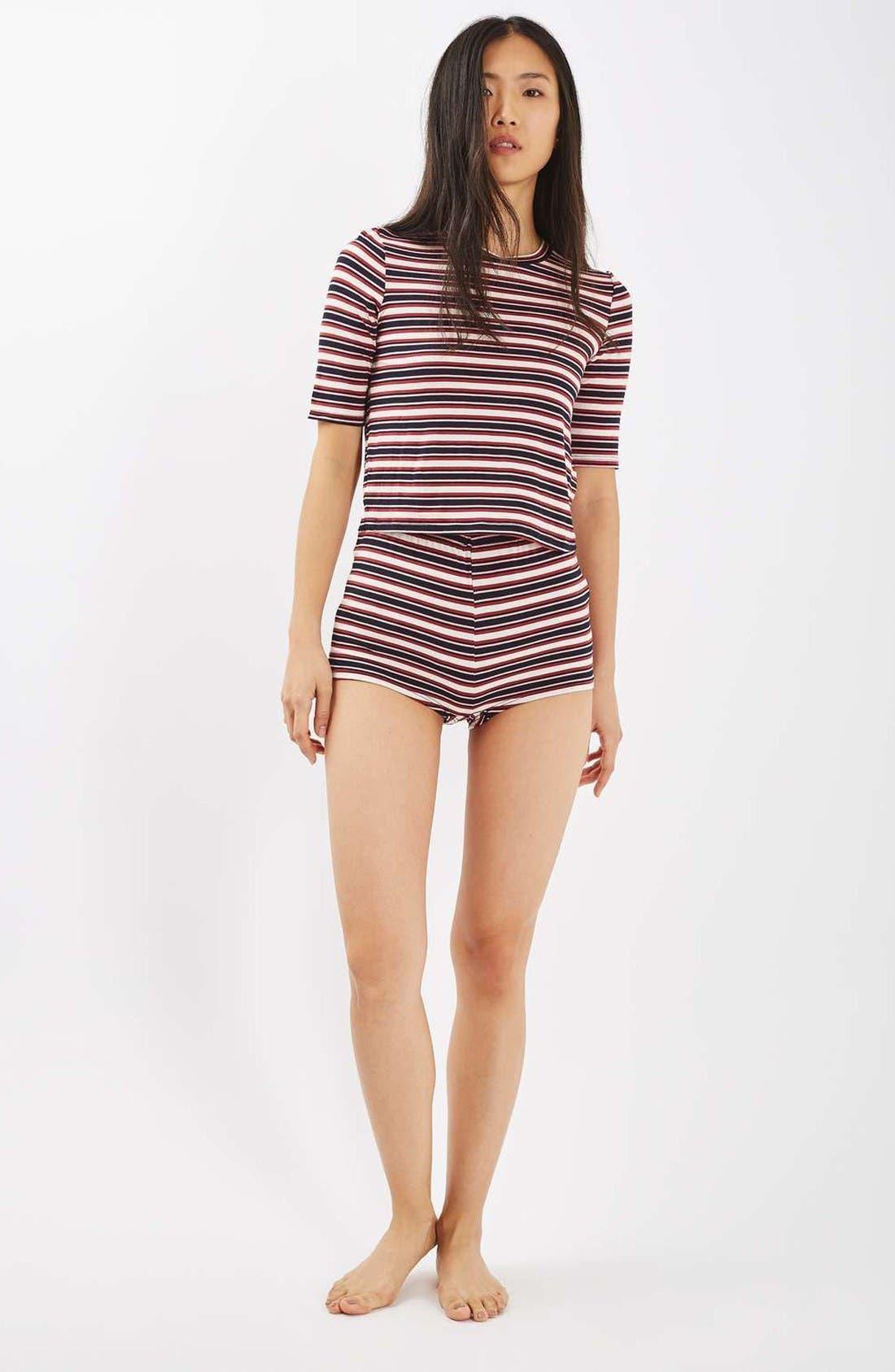 Alternate Image 2  - Topshop Harriet Stripe Pajamas