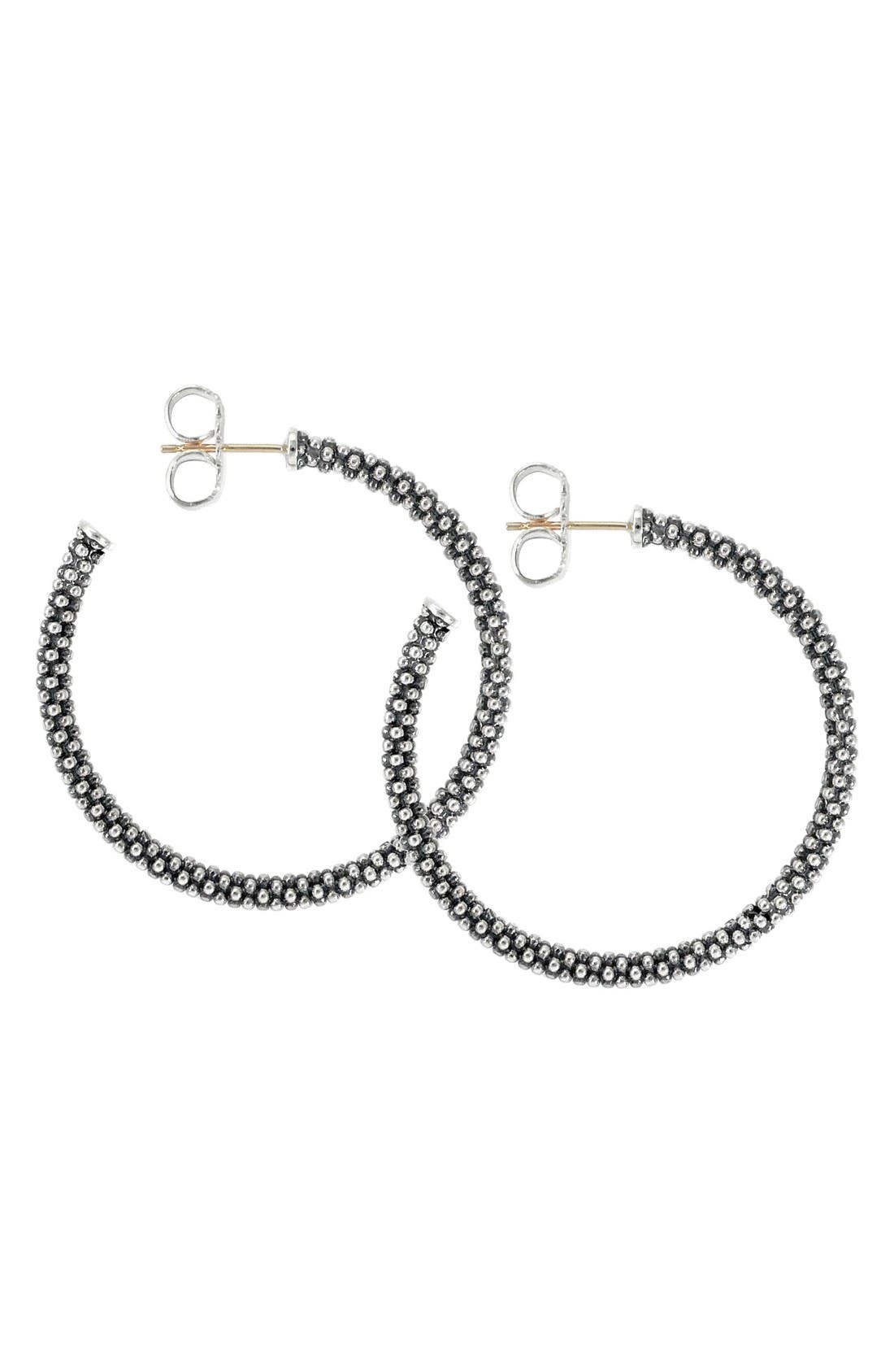 Alternate Image 1 Selected - LAGOS Medium Caviar Hoop Earrings