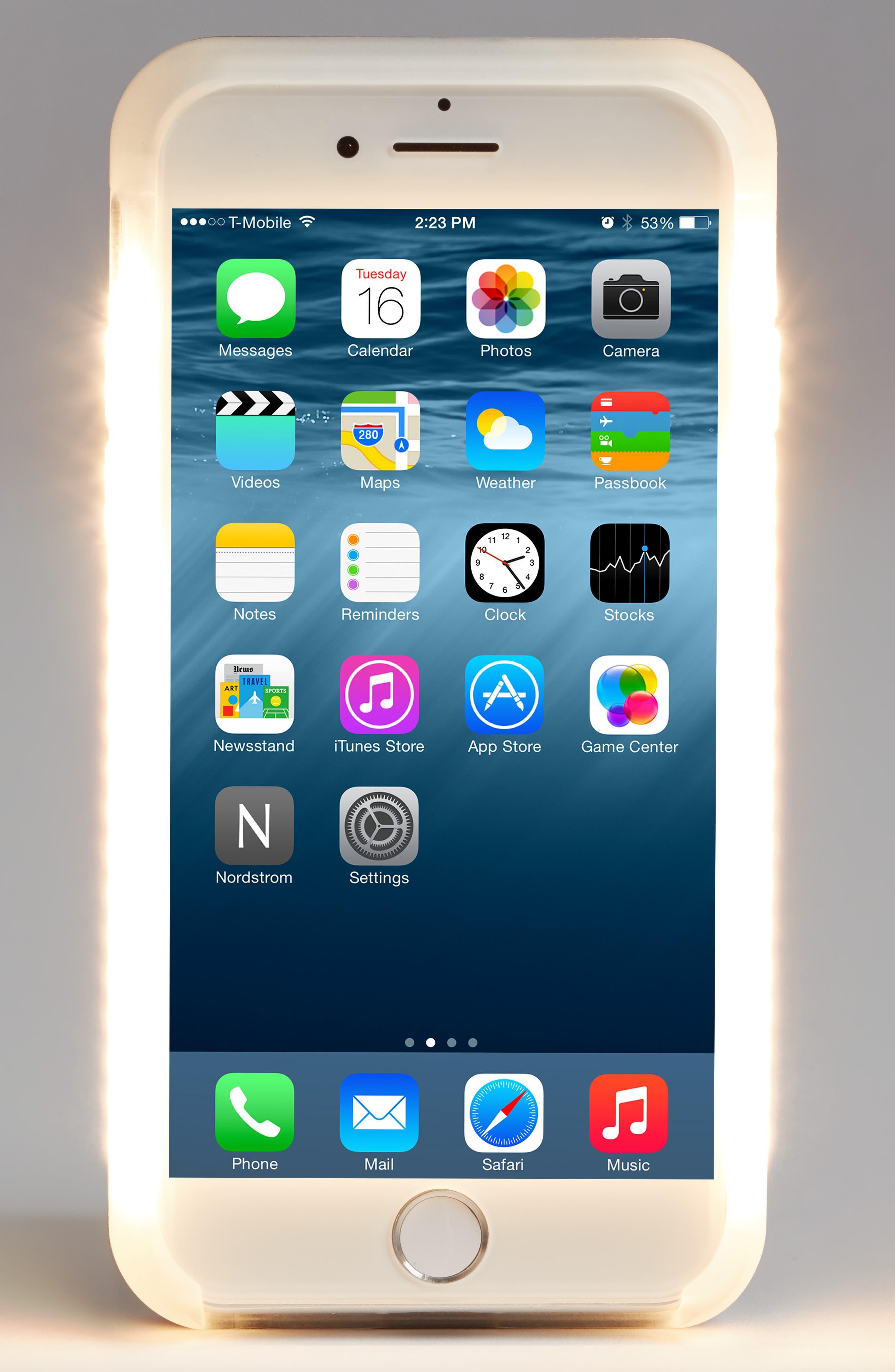 Alternate Image 2  - LuMee II Lighted iPhone 6/7 & 6/7 Plus Case
