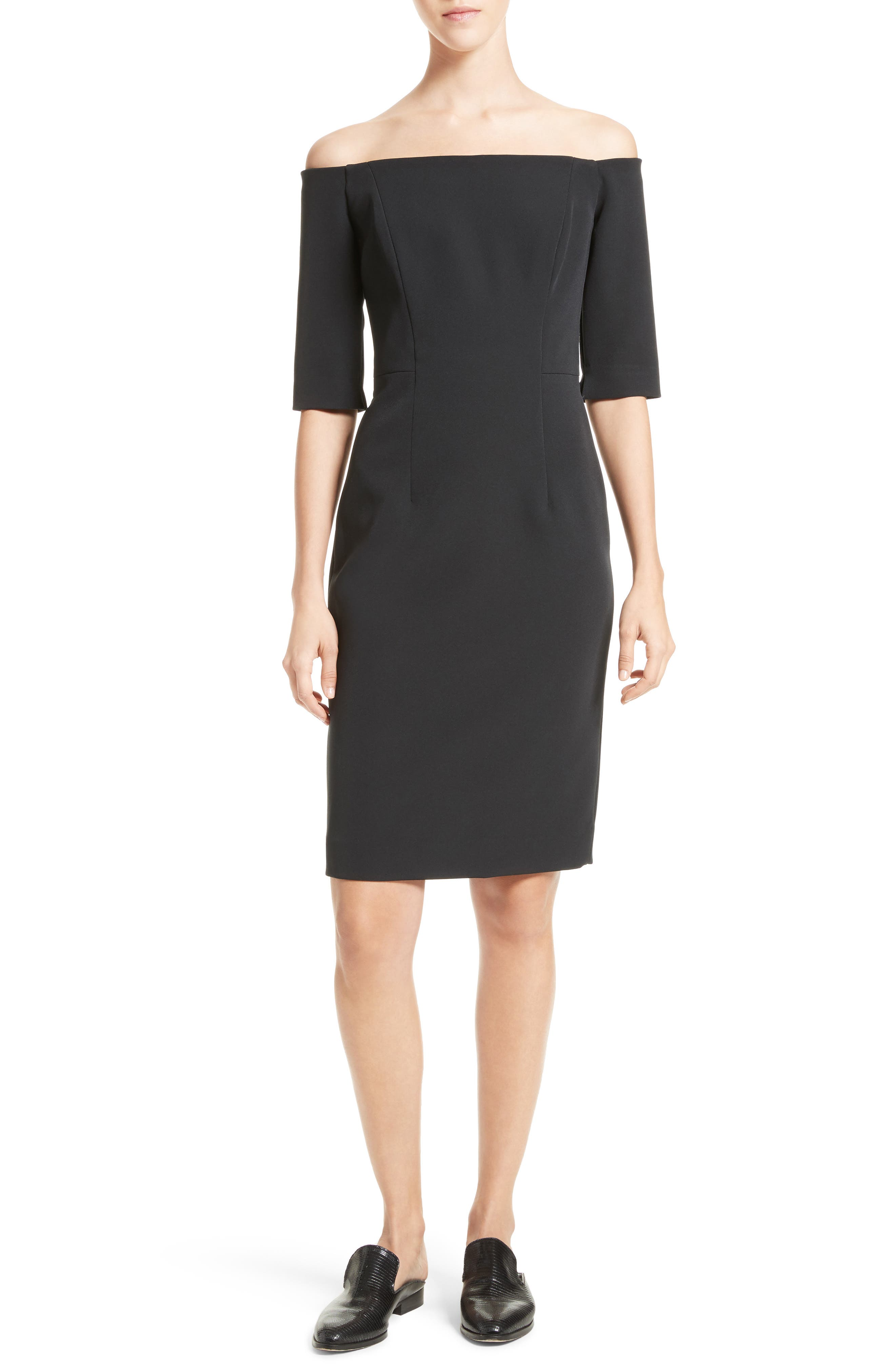 Milly Off the Shoulder Sheath Dress
