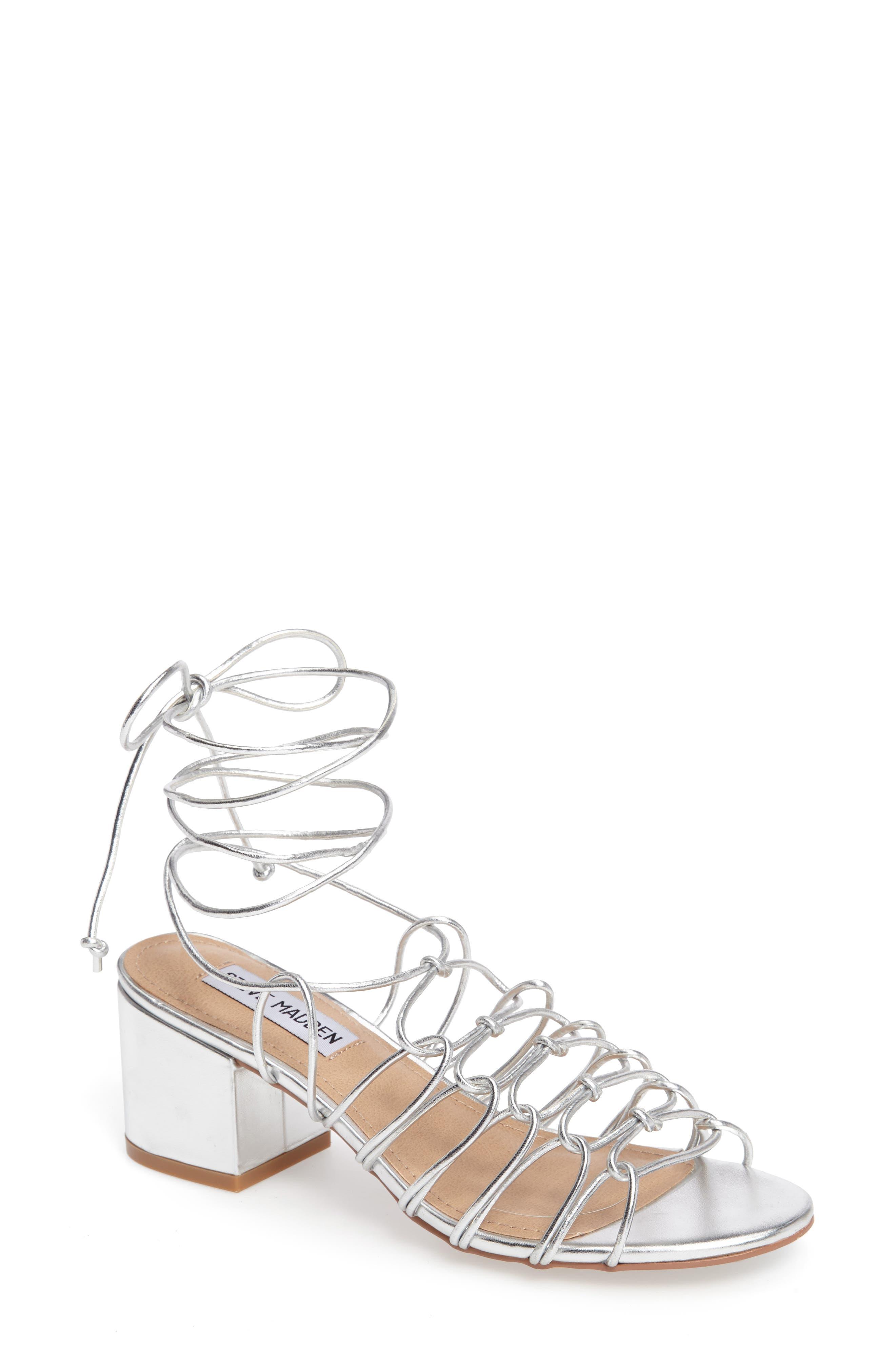 Alternate Image 1 Selected - Steve Madden Illie Knotted Lace Sandal (Women)