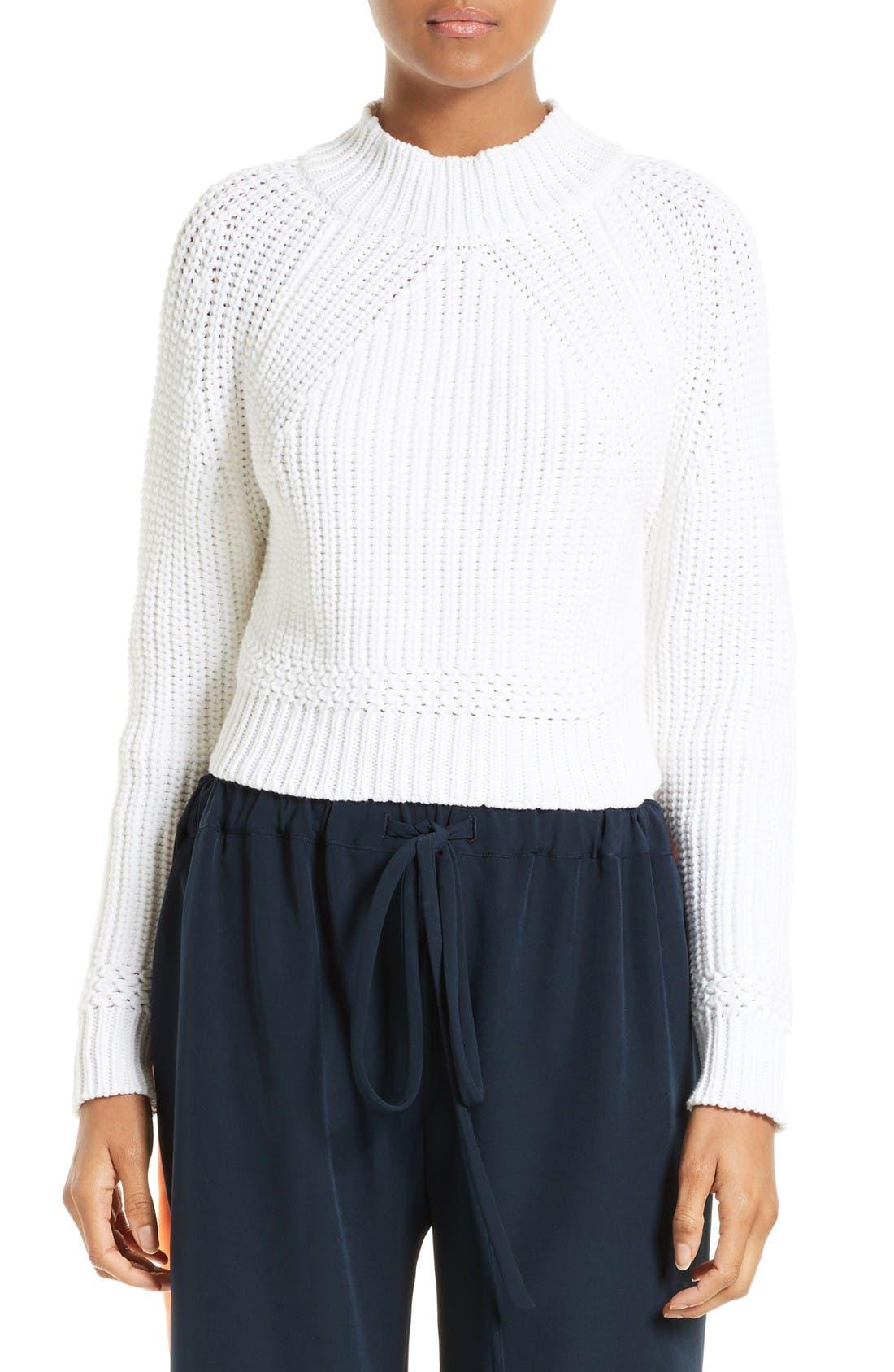 Milly Italian Fisherman Knit Sweater