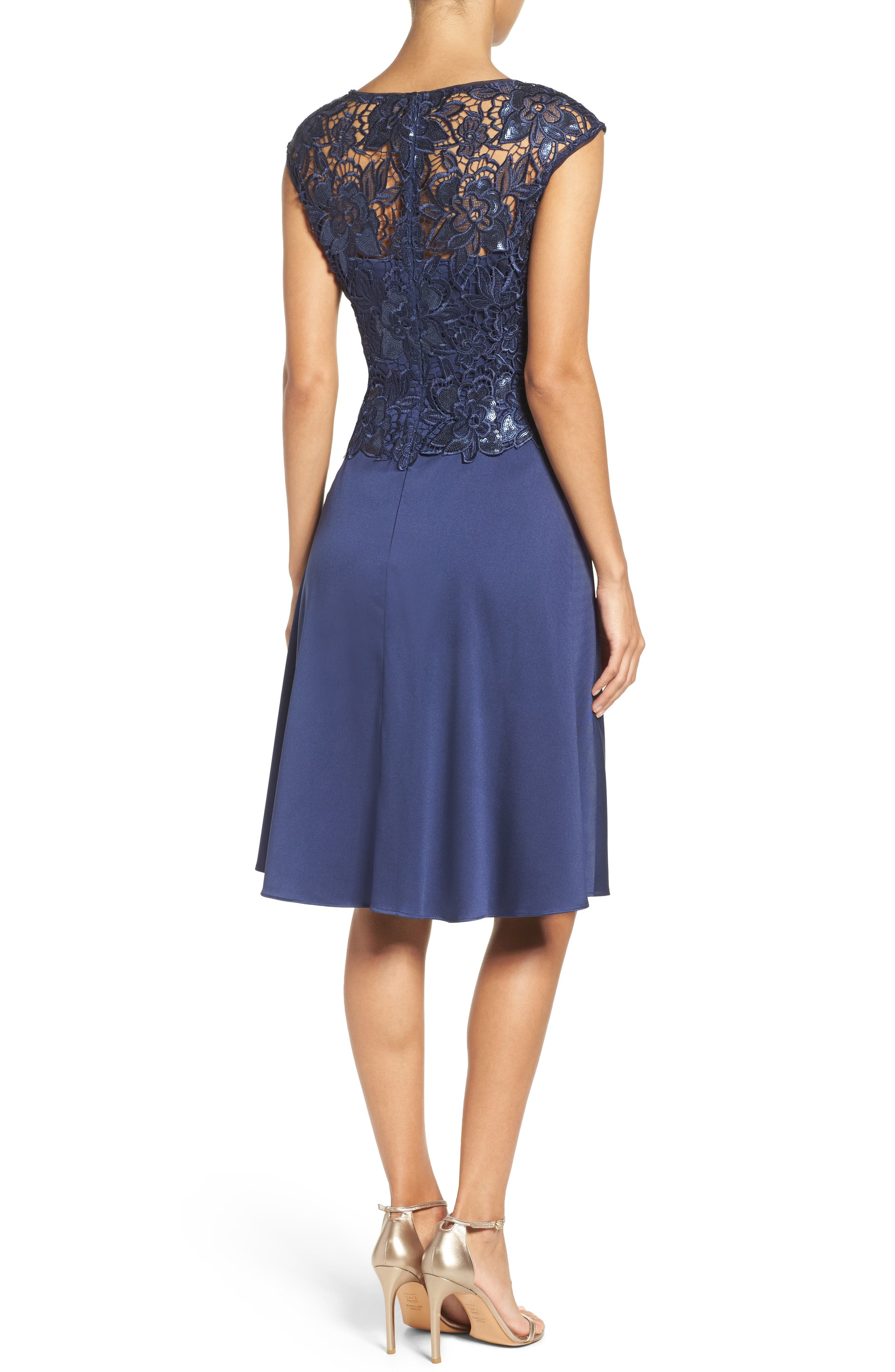 Alternate Image 2  - Adrianna Papell Fit & Flare Dress