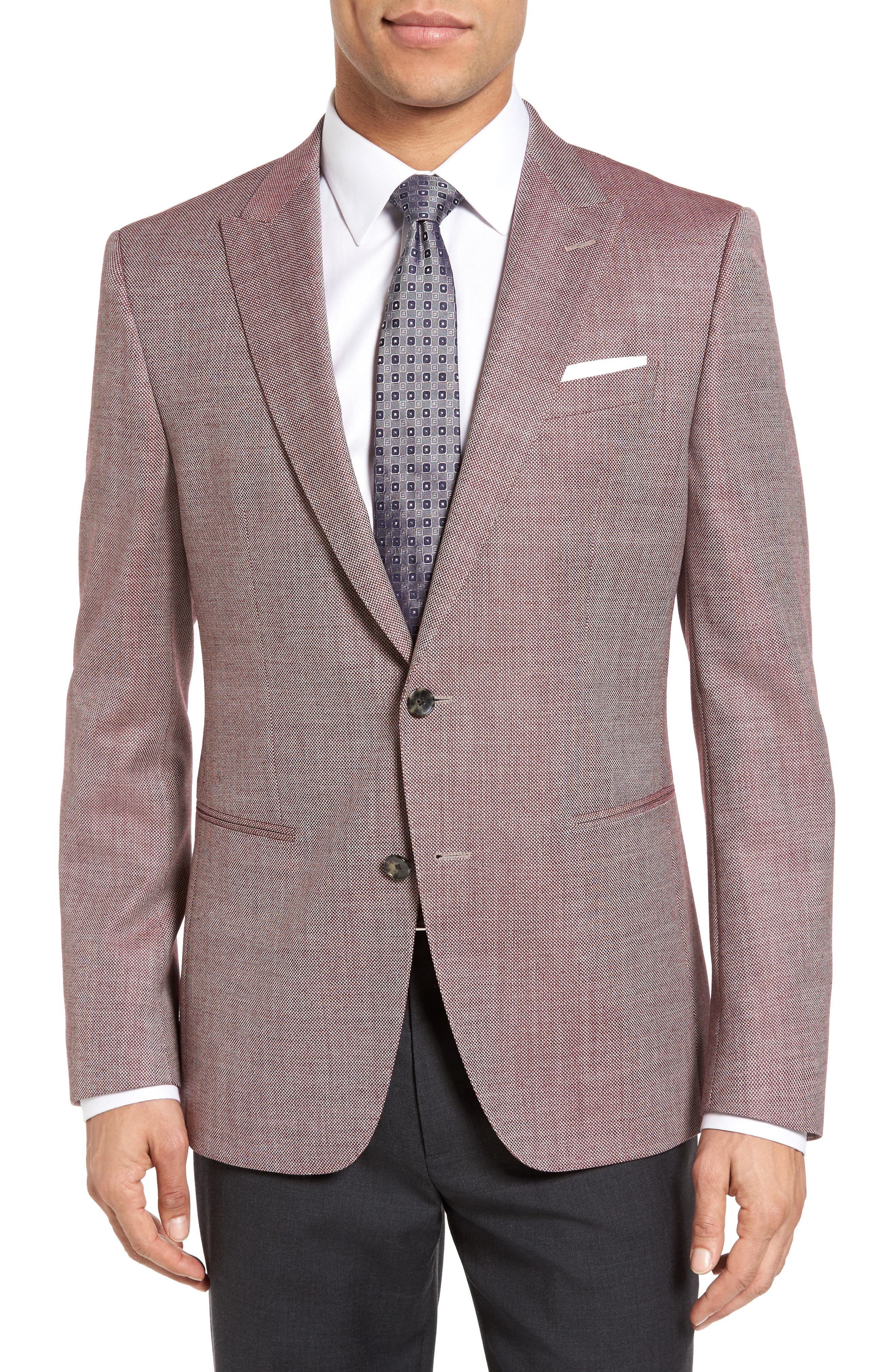 BOSS Hanwyn Trim Fit Wool Blazer