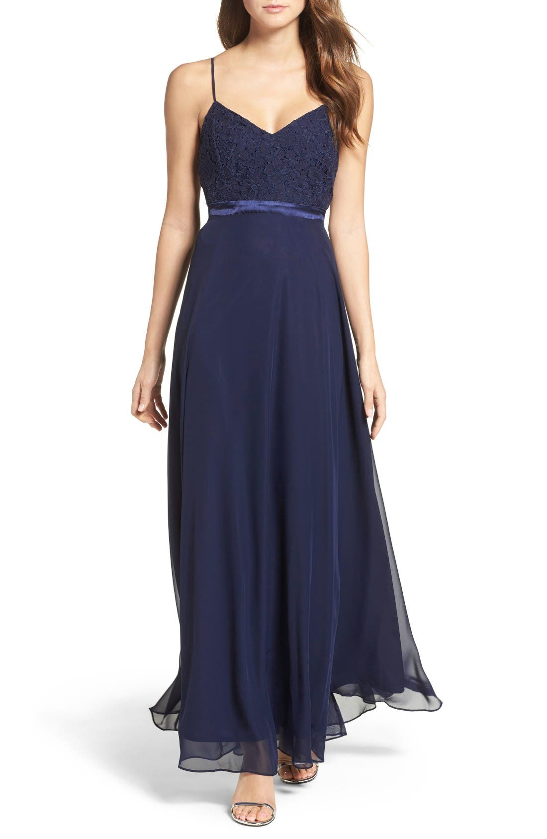 Alternate Image 1 Selected - Lulus Embellished Lace Gown