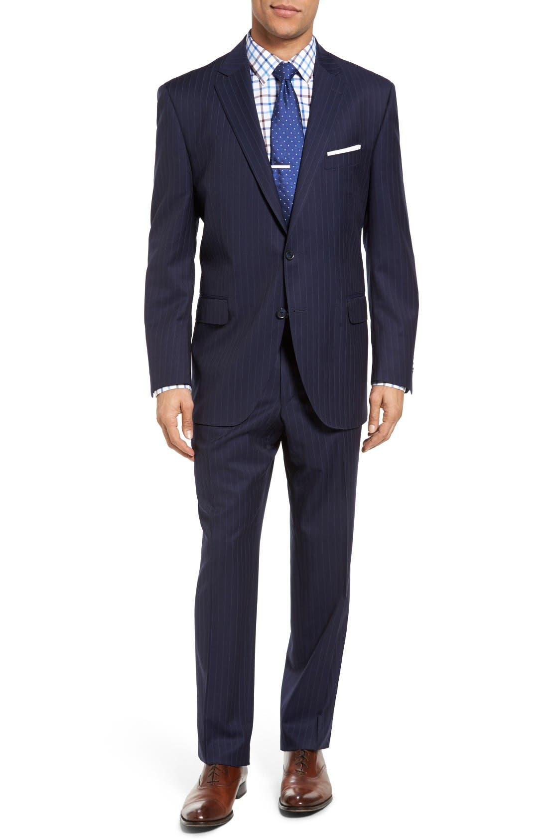 PETER MILLAR Classic Fit Stripe Wool Suit