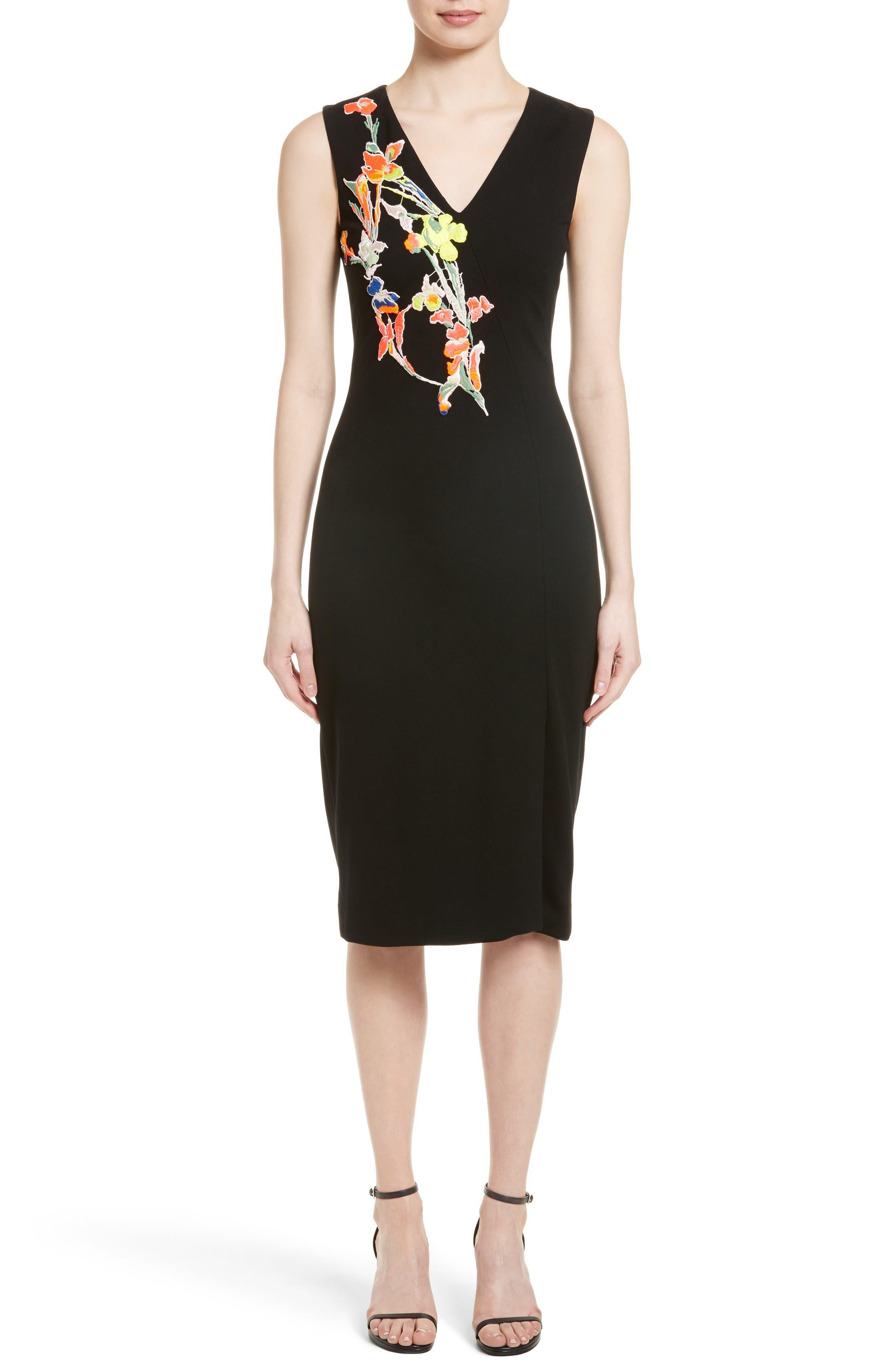 JASON WU Floral Appliqué Sheath Dress