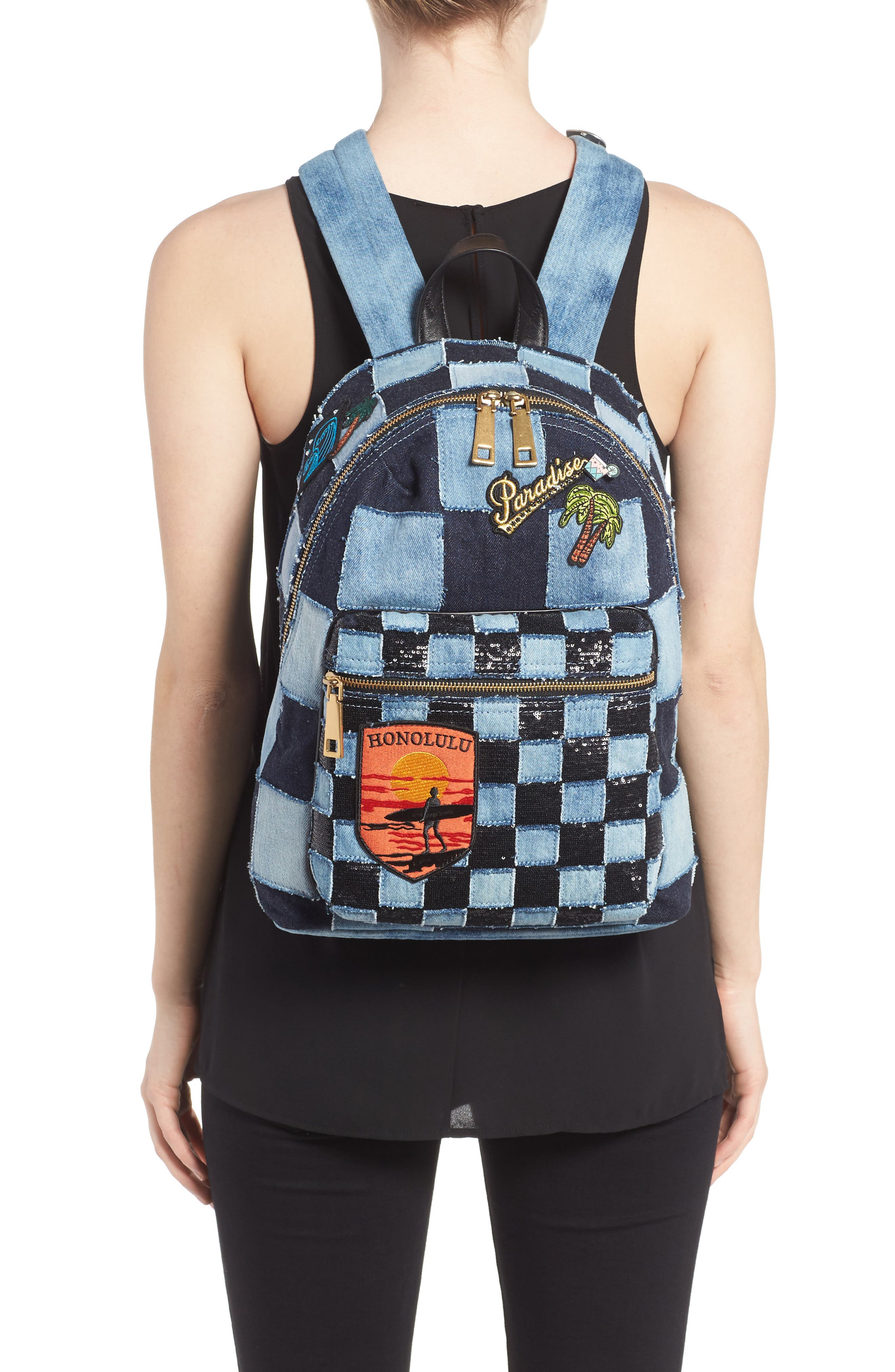 Alternate Image 2  - MARC JACOBS Denim Biker Backpack
