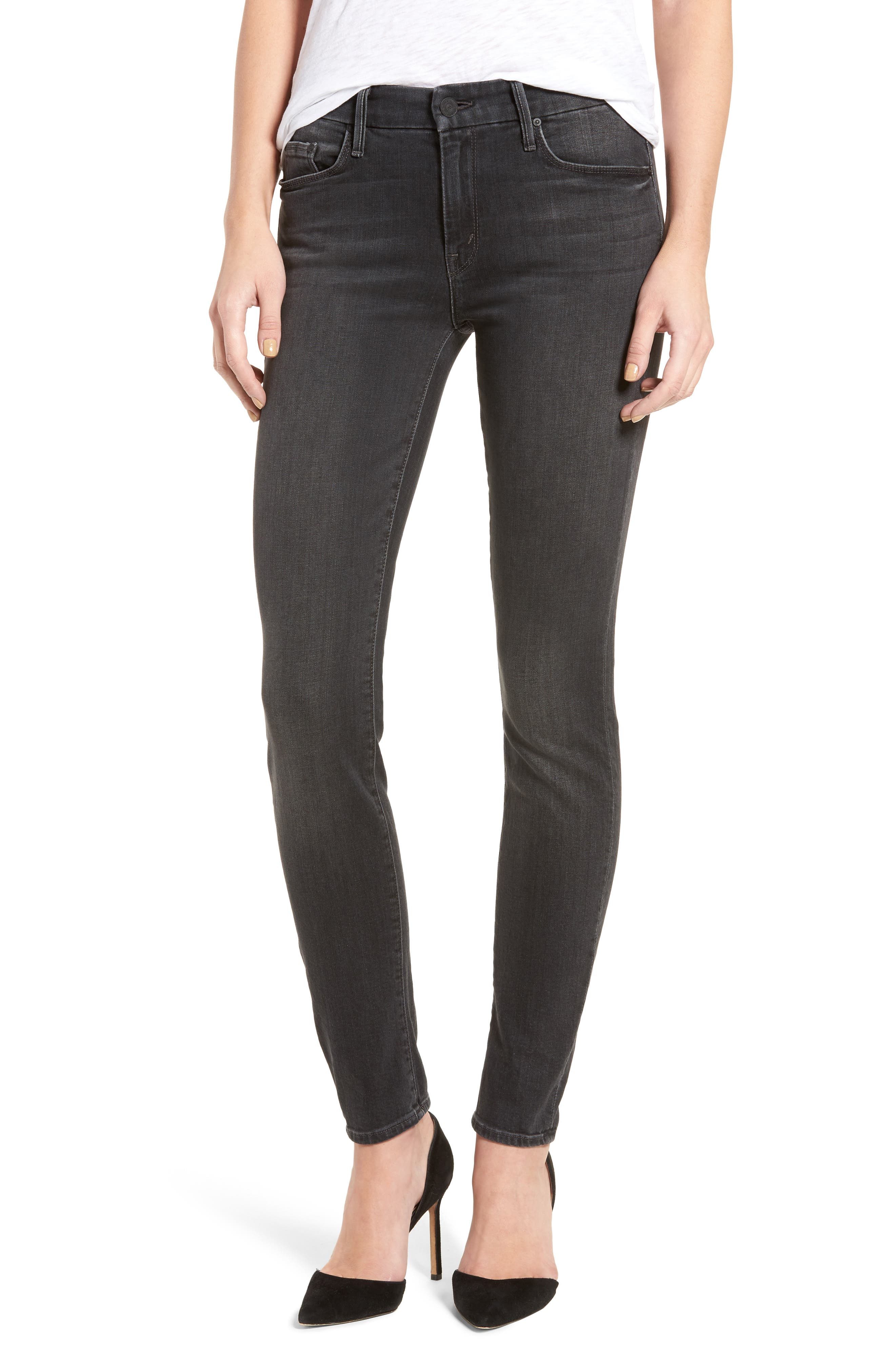 Alternate Image 1 Selected - MOTHER The Looker Skinny Jeans (Slightly Shady)
