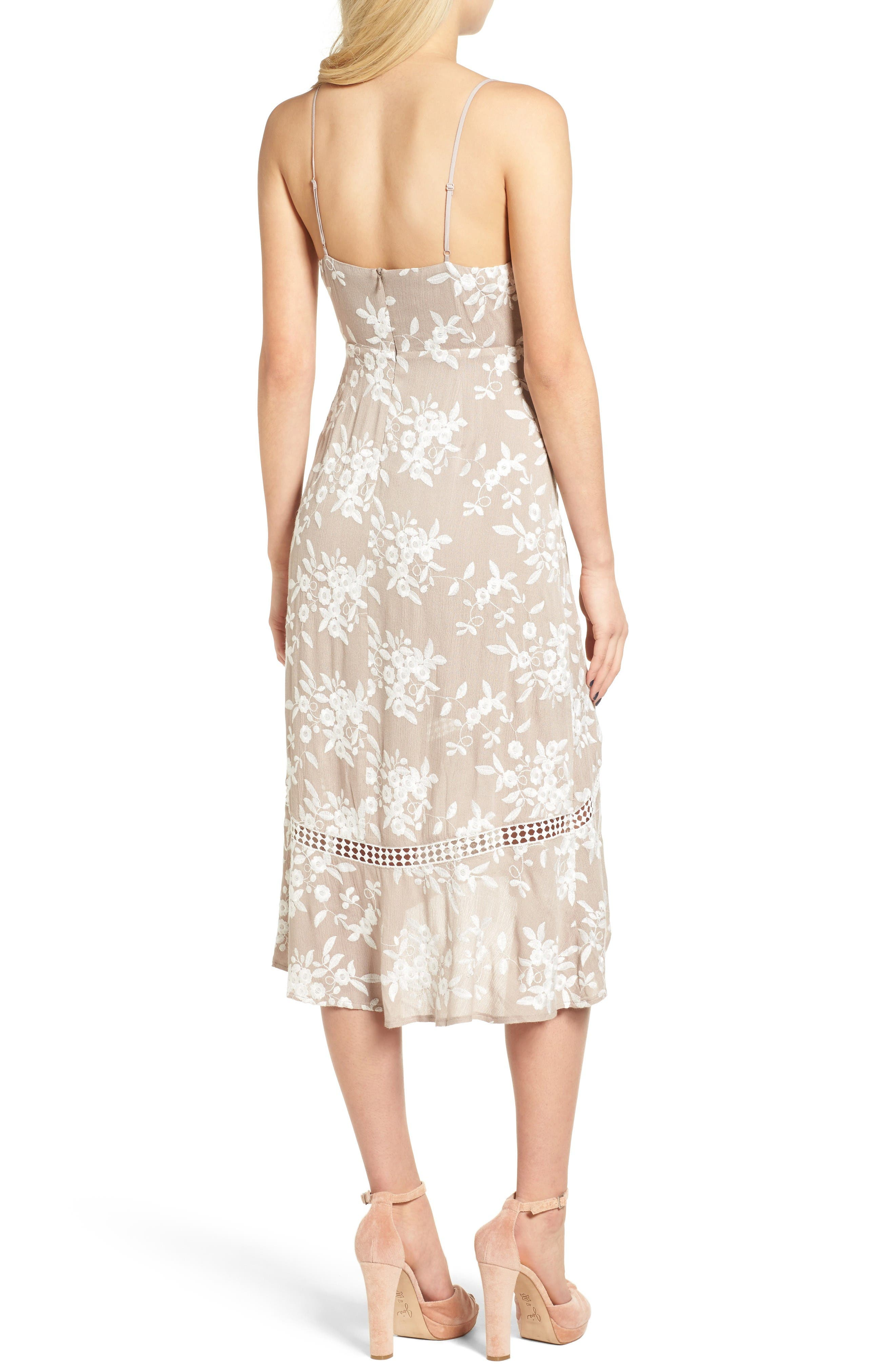 Alternate Image 3  - ASTR the Label Embroidered Tie Front Dress