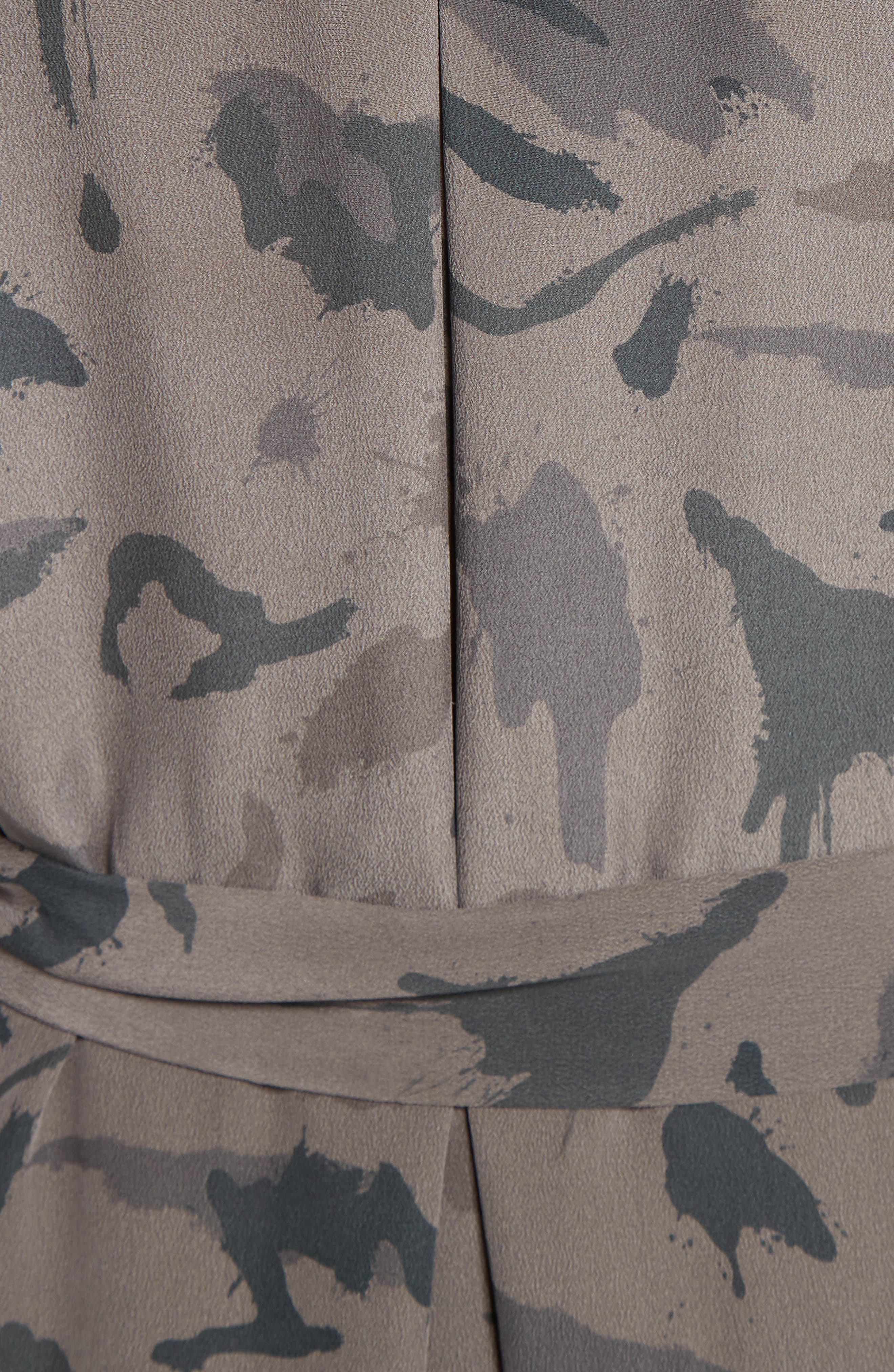 Alternate Image 5  - L'AGENCE Silk Maxi Shirtdress