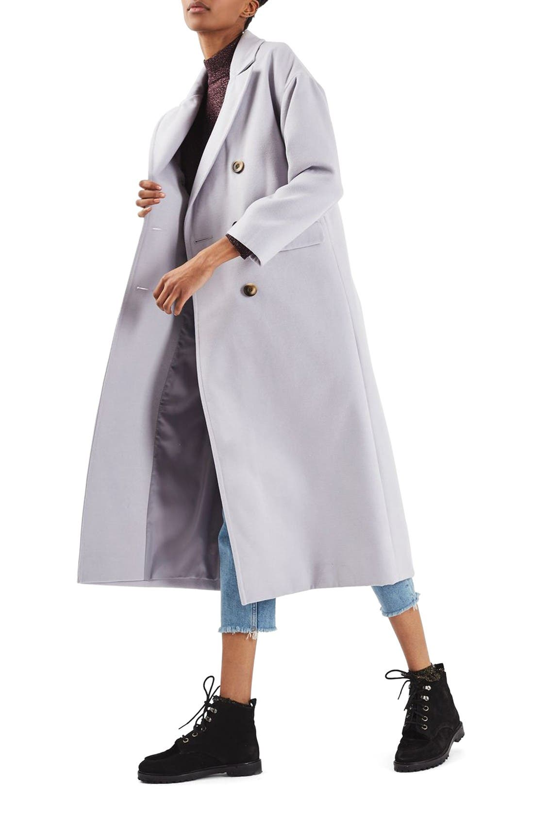 Alternate Image 1 Selected - Topshop Double Breasted Coat
