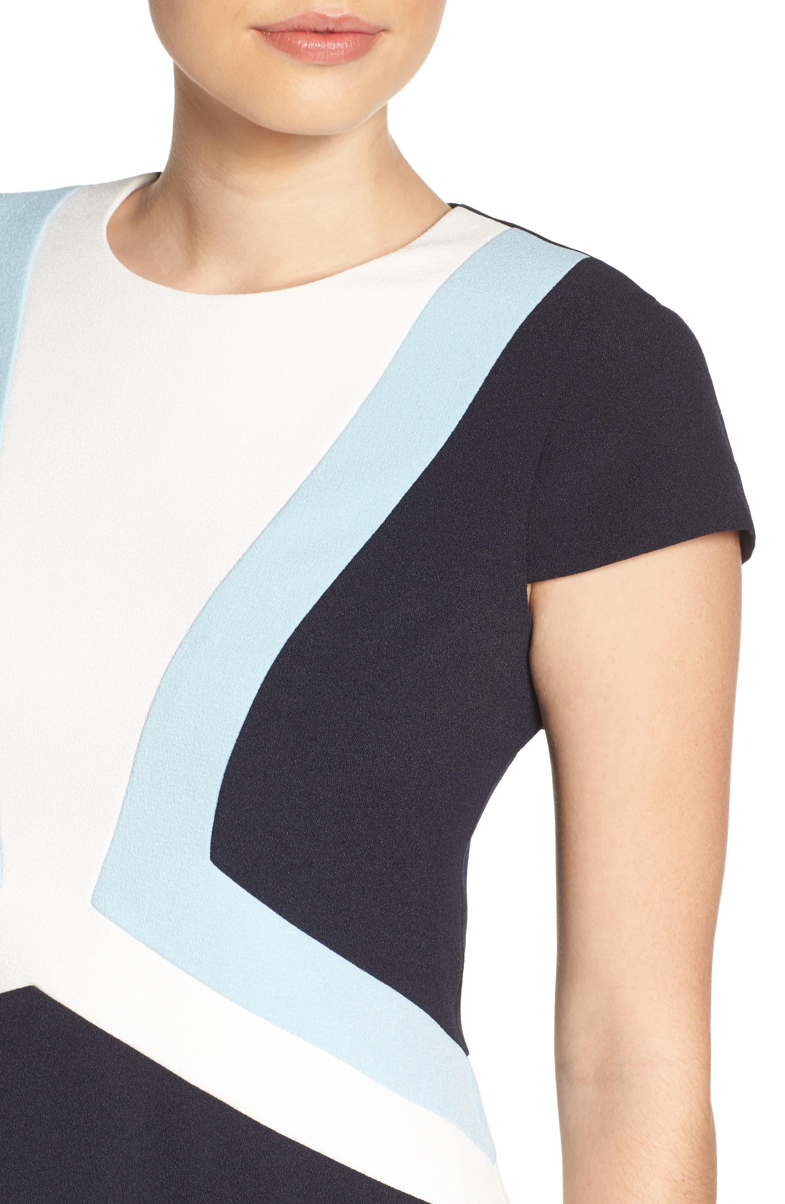 Alternate Image 5  - Vince Camuto Colorblock Shift Dress (Regular & Petite)