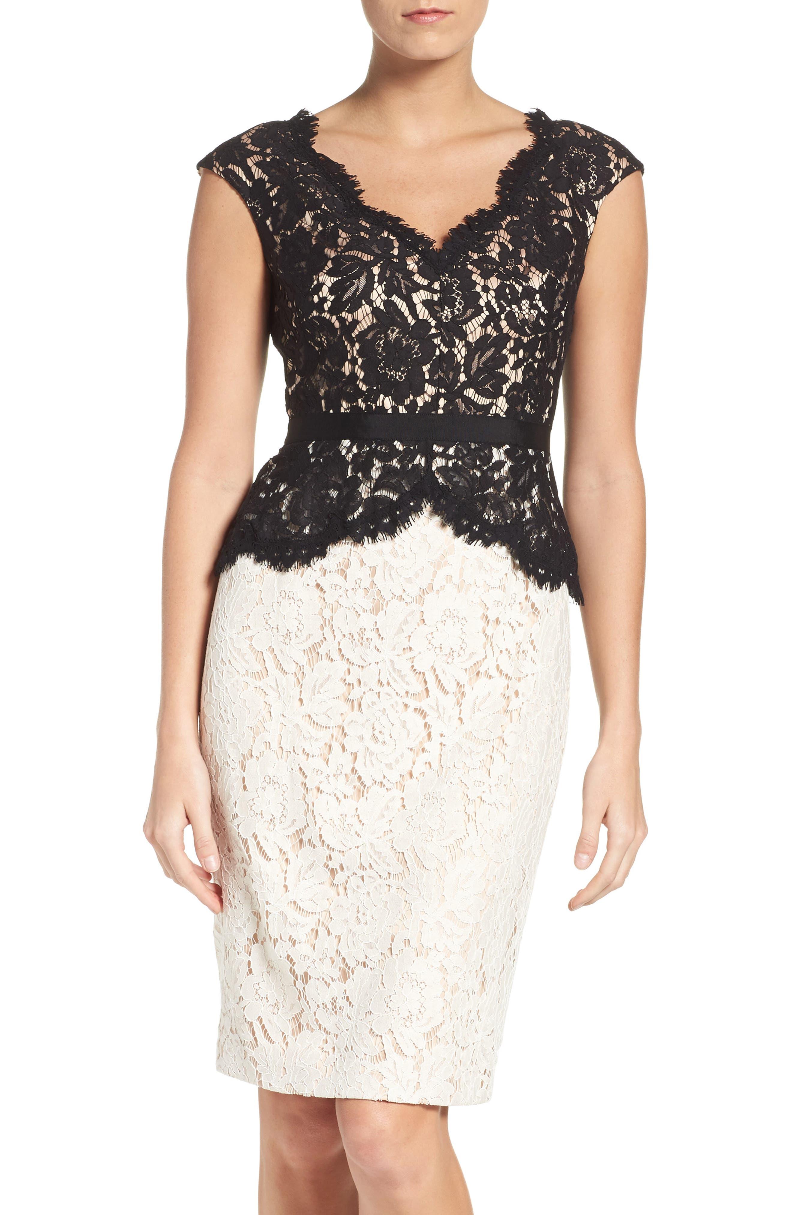 Alternate Image 1 Selected - Eliza J Lace Sheath Dress