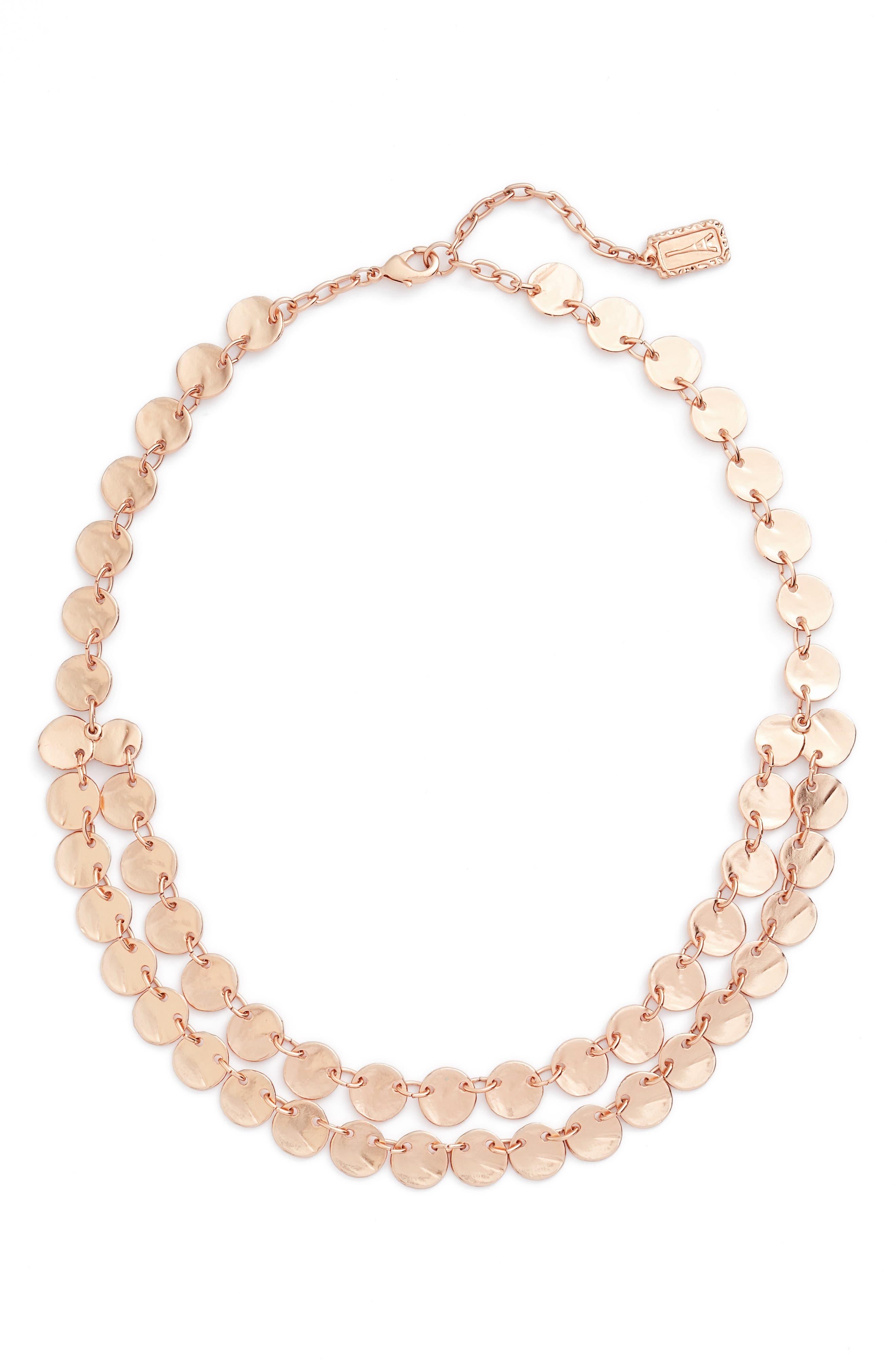 Karine Sultan Ariane Coin Collar Necklace