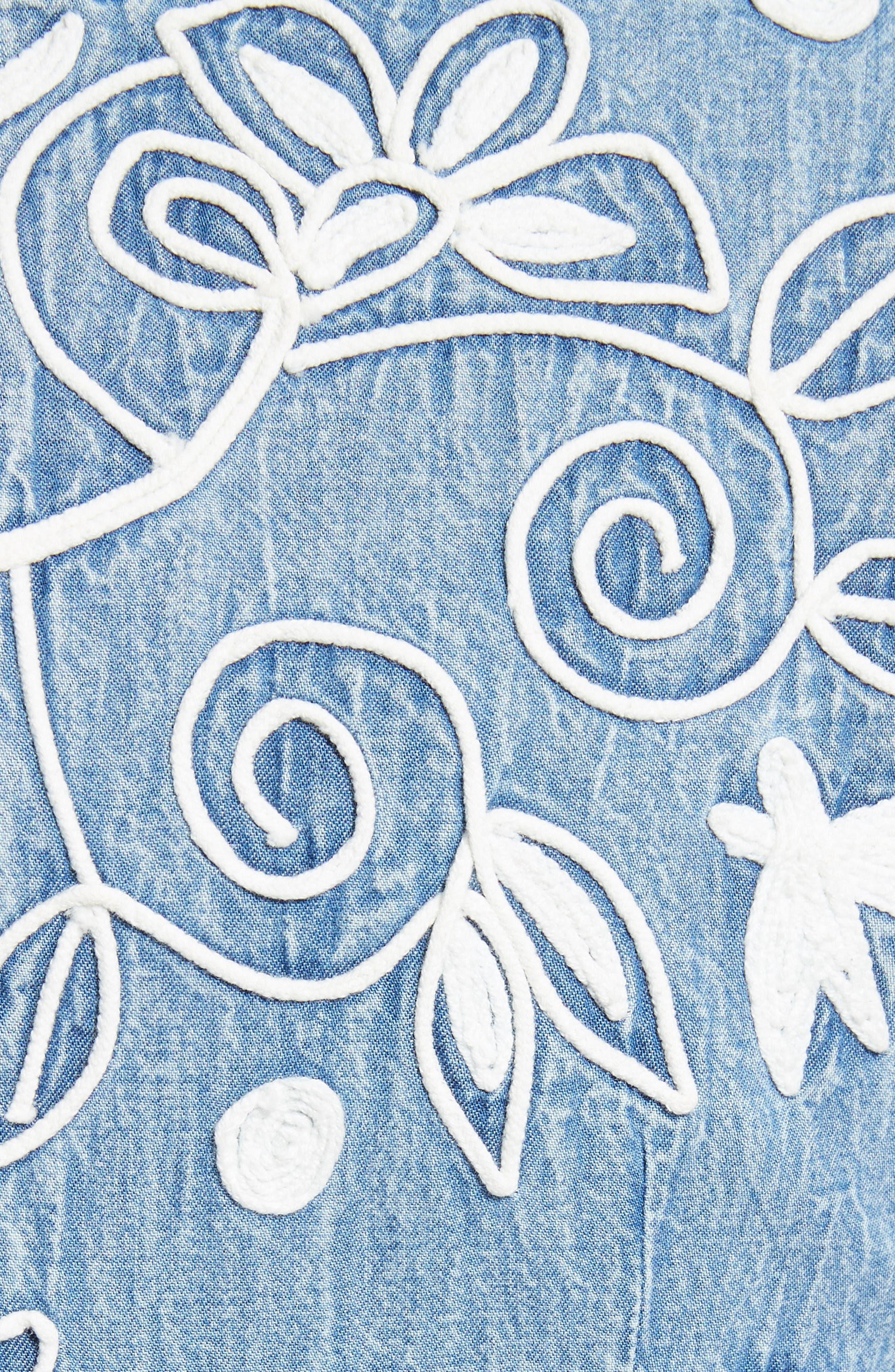 Alternate Image 5  - Alice + Olivia Lindsey Embroidered A-Line Dress
