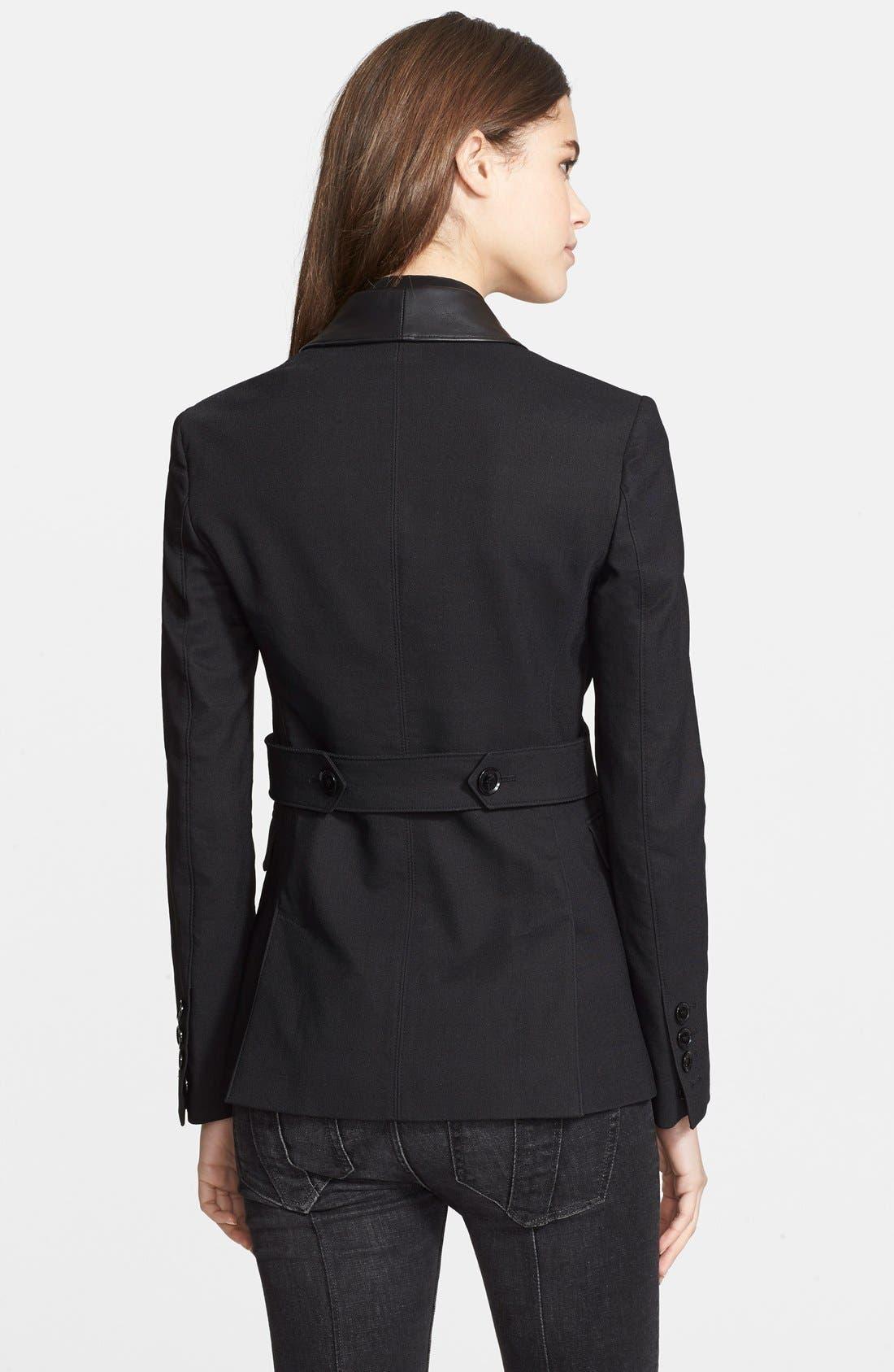 Alternate Image 2  - Burberry Brit 'Wicksby' Leather Lapel Jacket