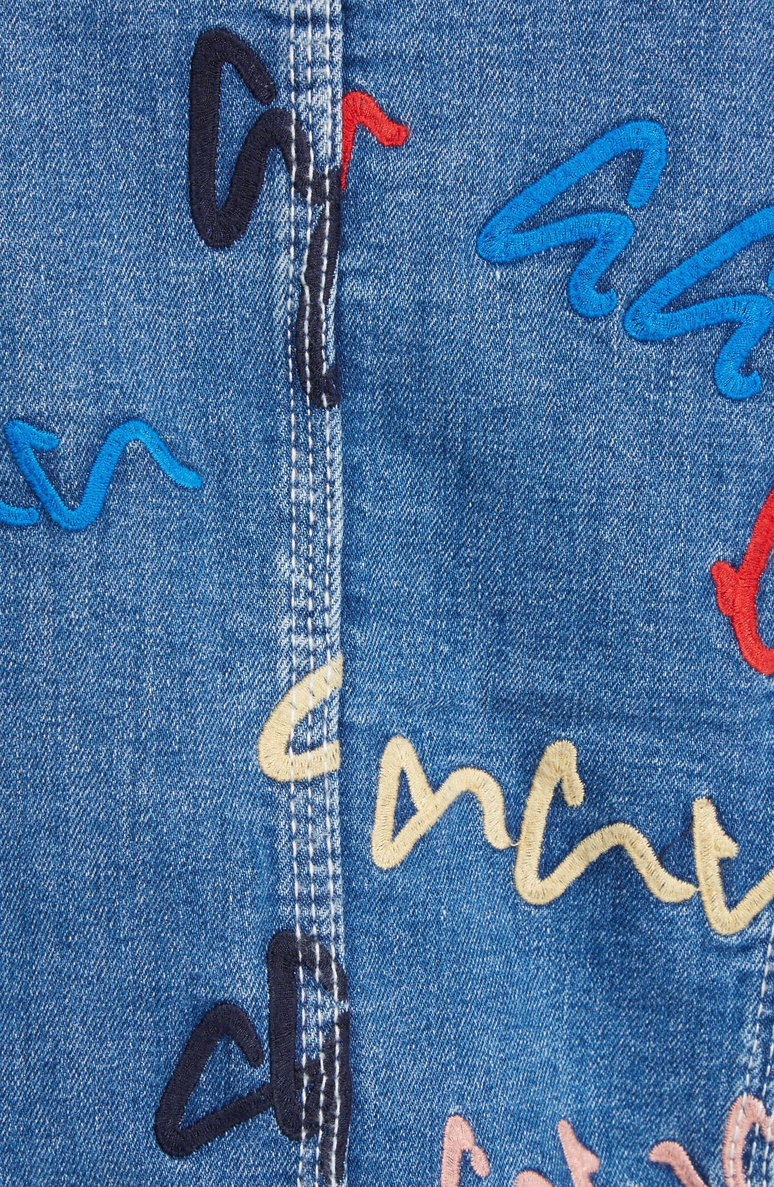Alternate Image 6  - GREY Jason Wu Scribble Embroidered Denim Jacket