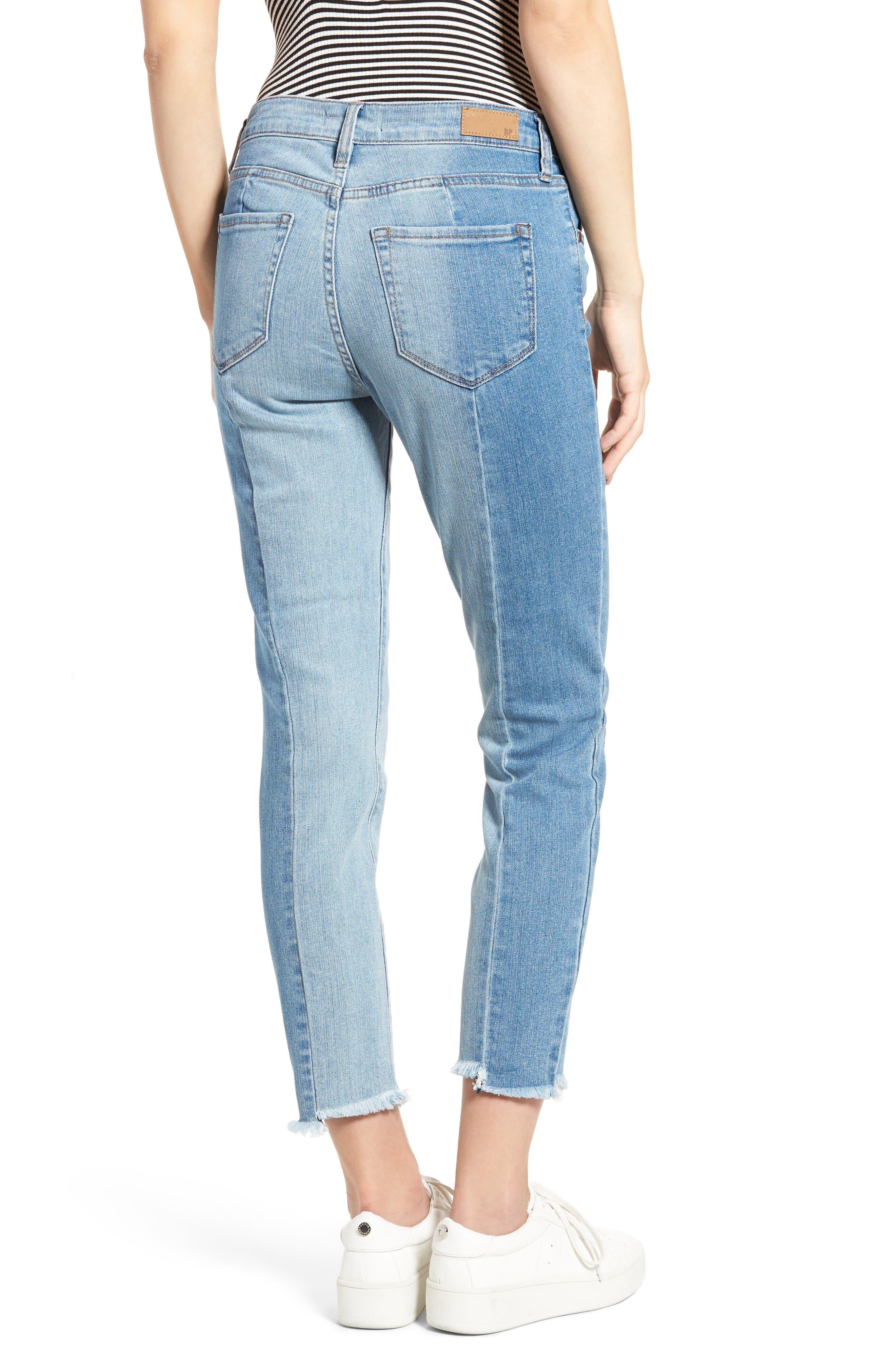 Alternate Image 2  - BP. Straight Colorblock Jeans