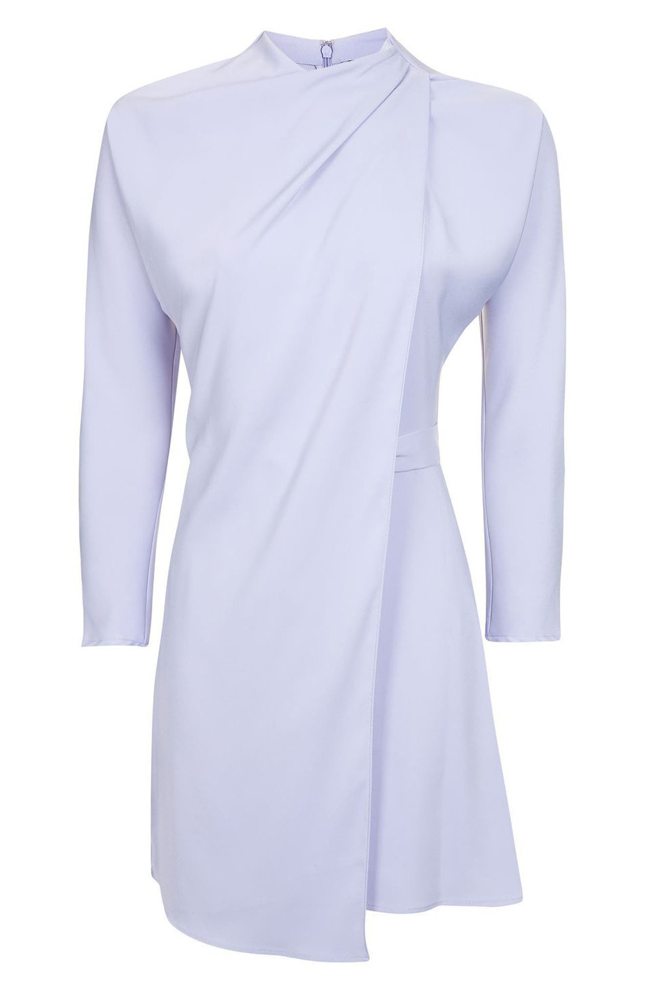 Alternate Image 4  - Topshop Drape Neck Dress