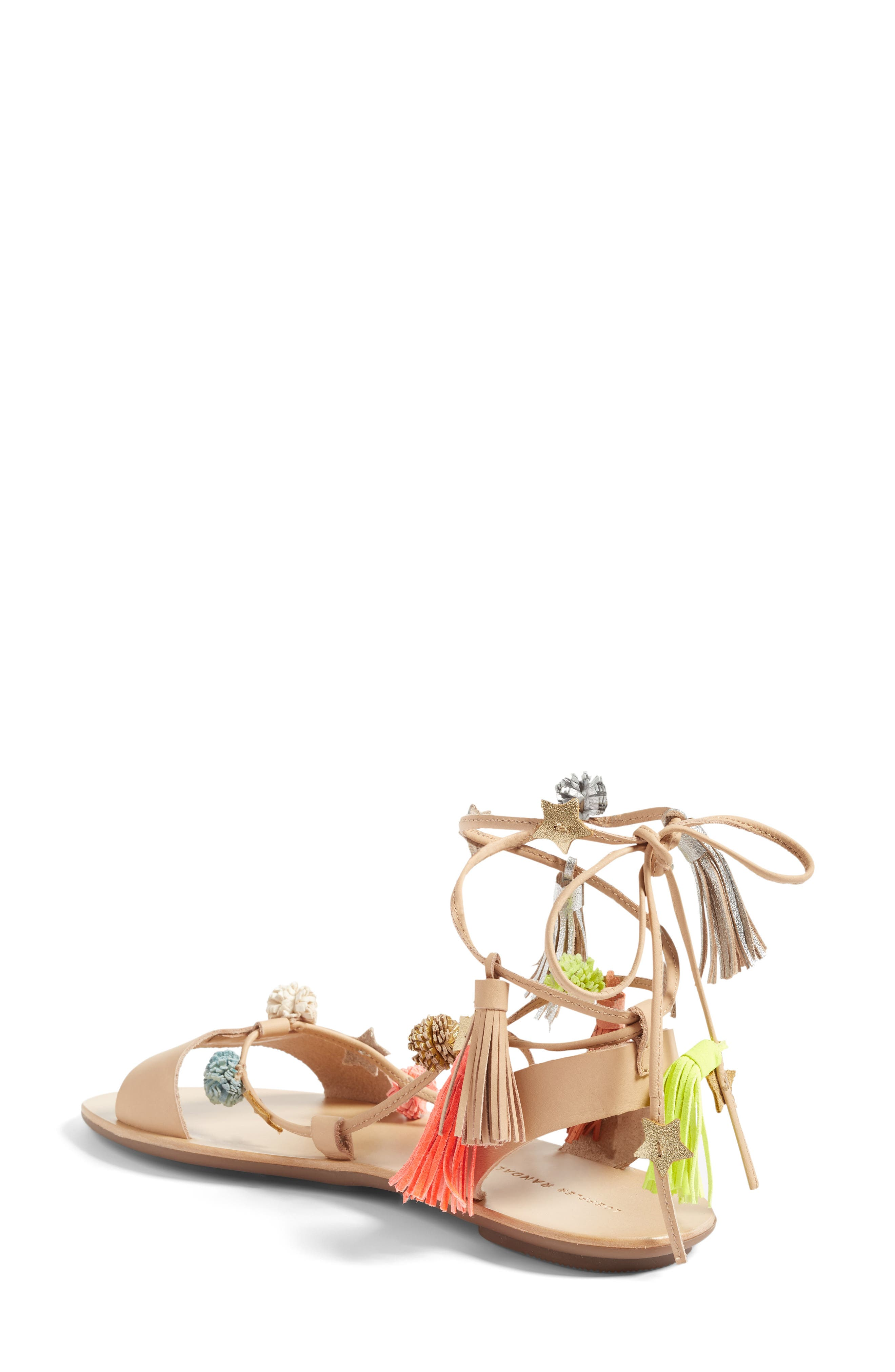 Alternate Image 2  - Loeffler Randall Suze Embellished Wraparound Sandal (Women)