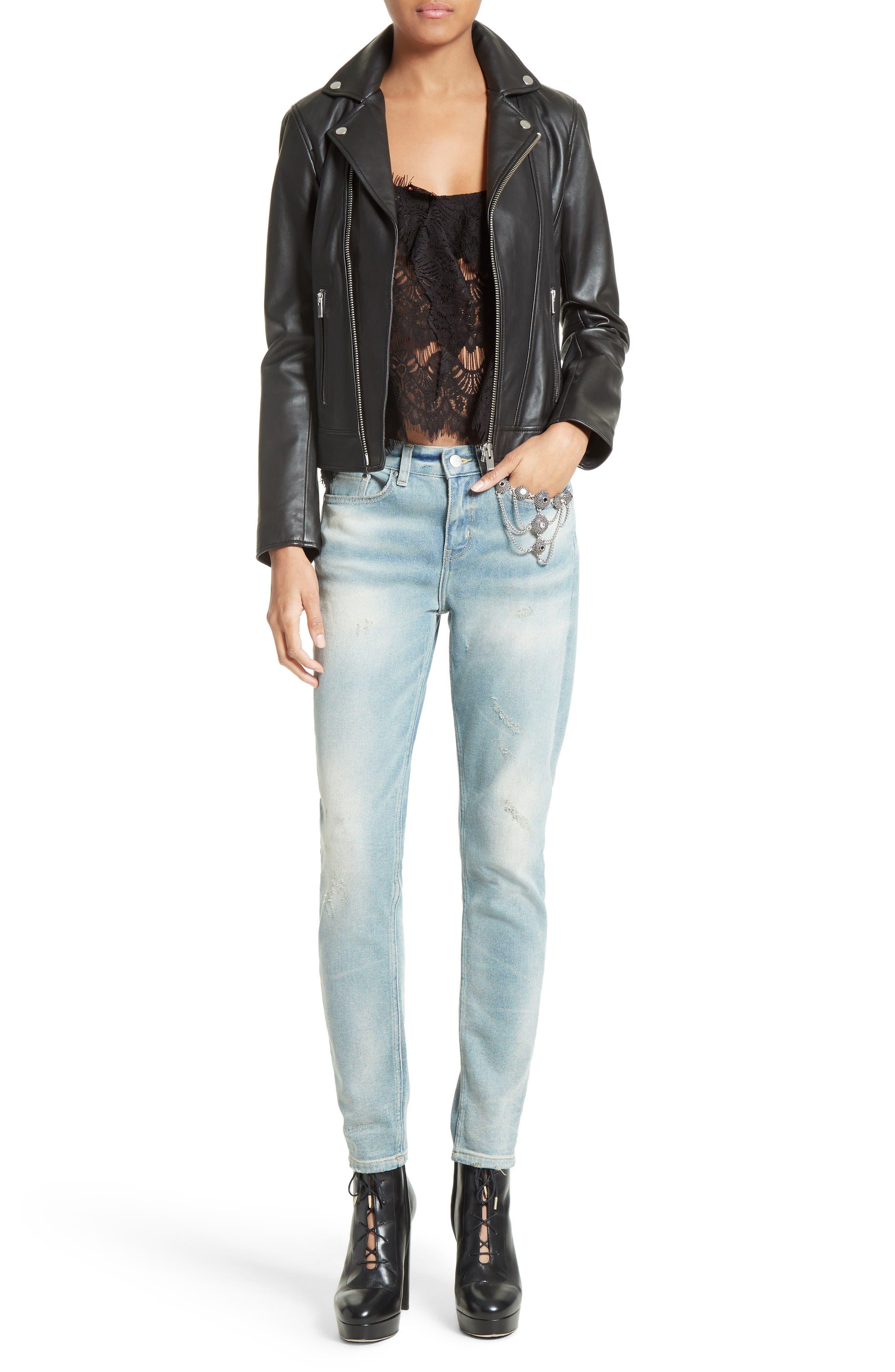 Alternate Image 2  - The Kooples Lambskin Leather Jacket