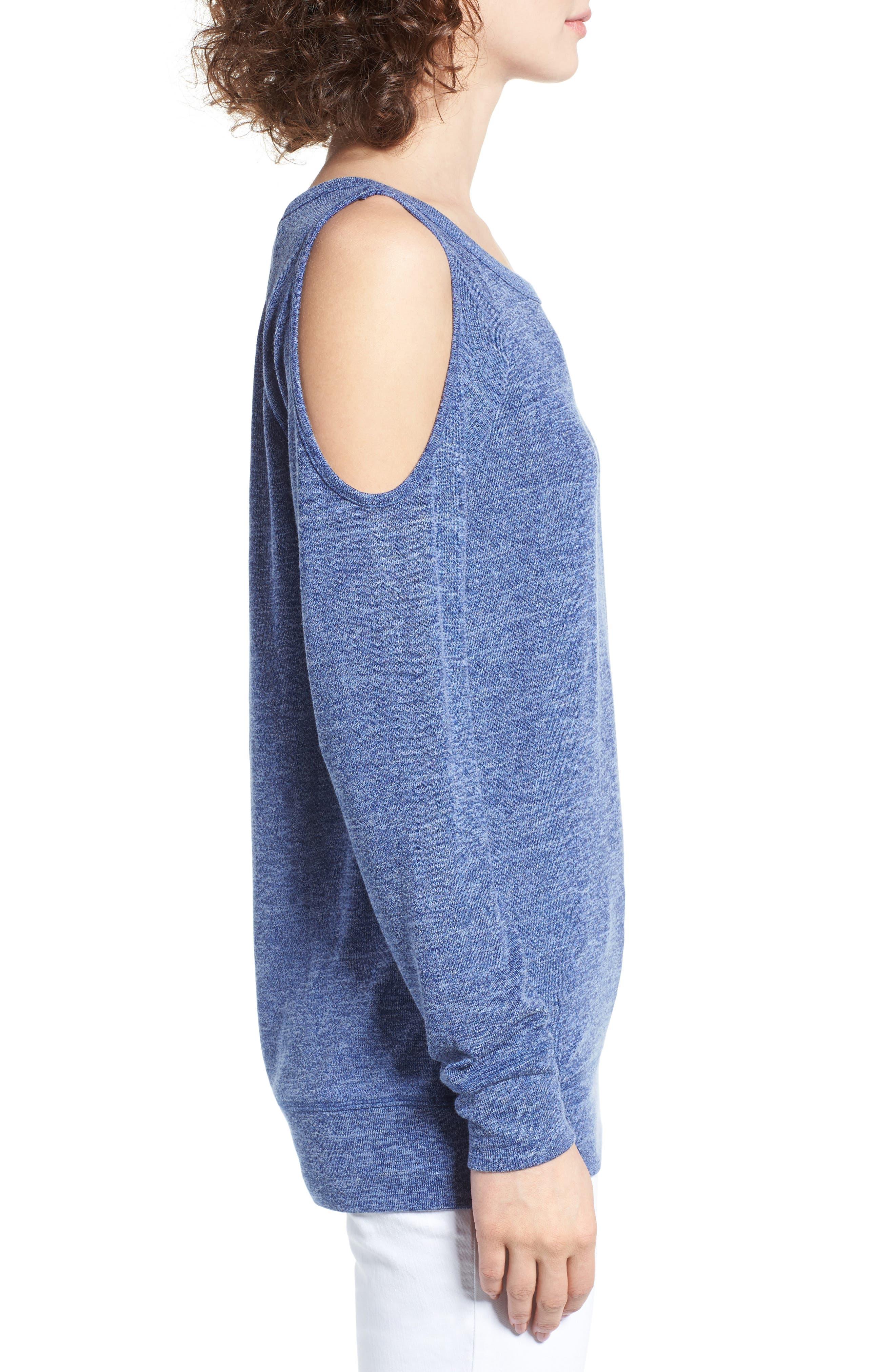 Alternate Image 3  - BP. Cold Shoulder Sweatshirt