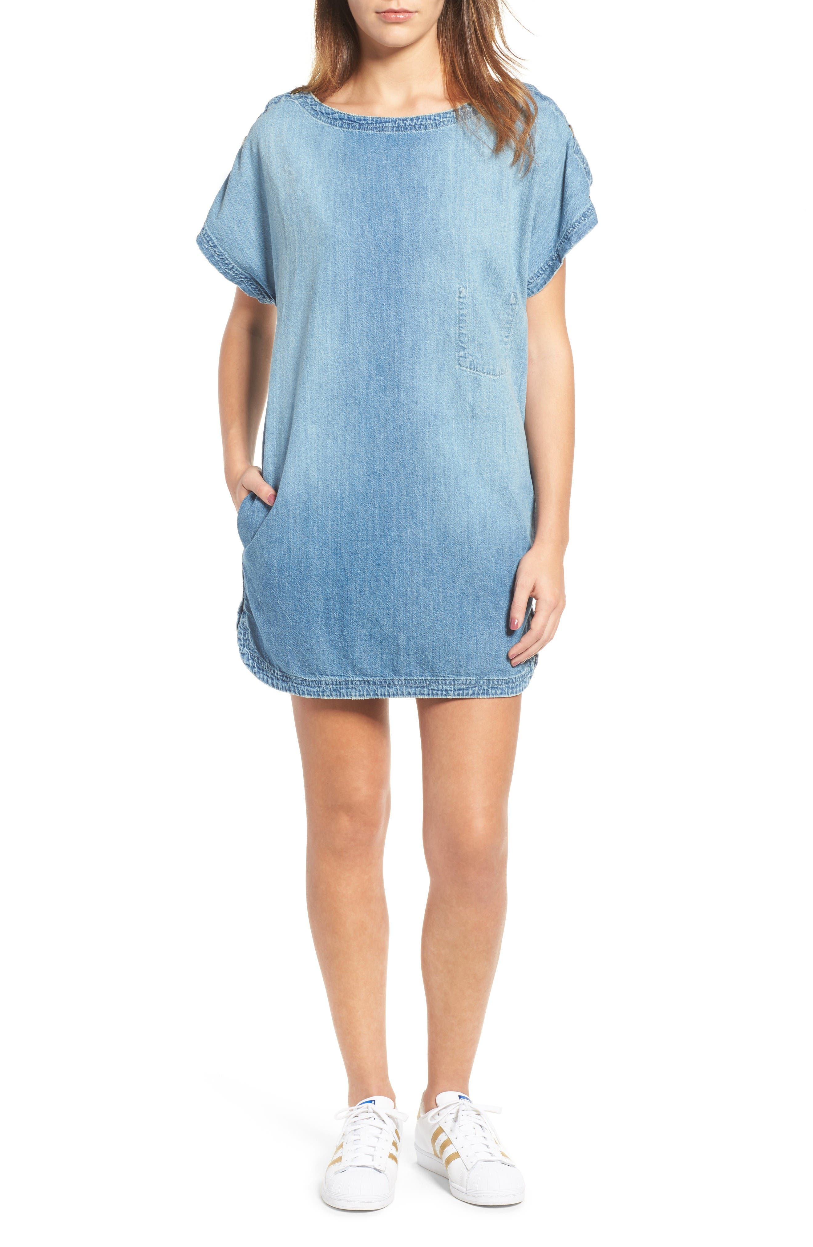 Alternate Image 1 Selected - Current/Elliott Denim T-Shirt Dress