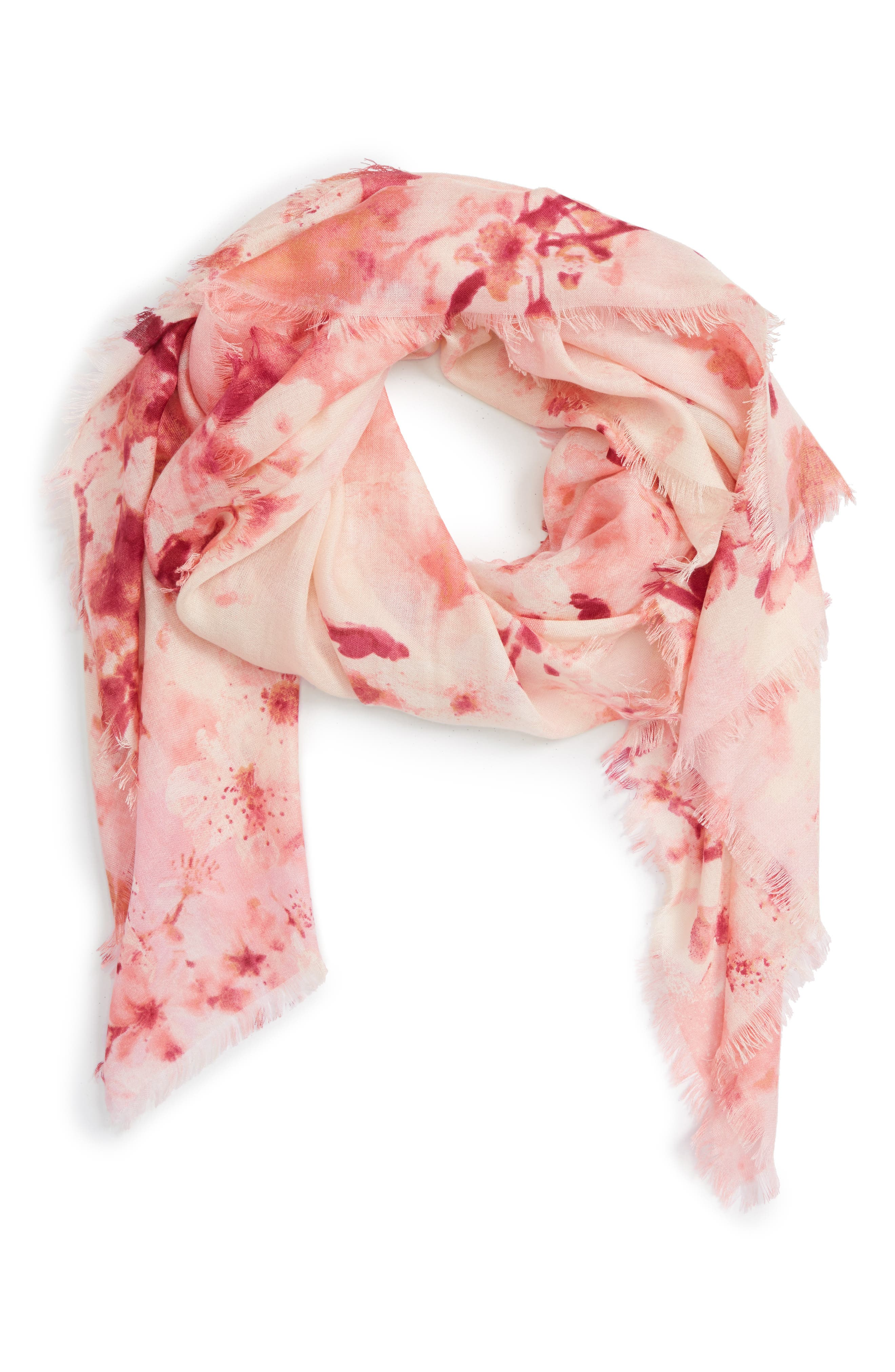 Alternate Image 1 Selected - Nordstrom Graceful Hanami Cashmere & Silk Scarf
