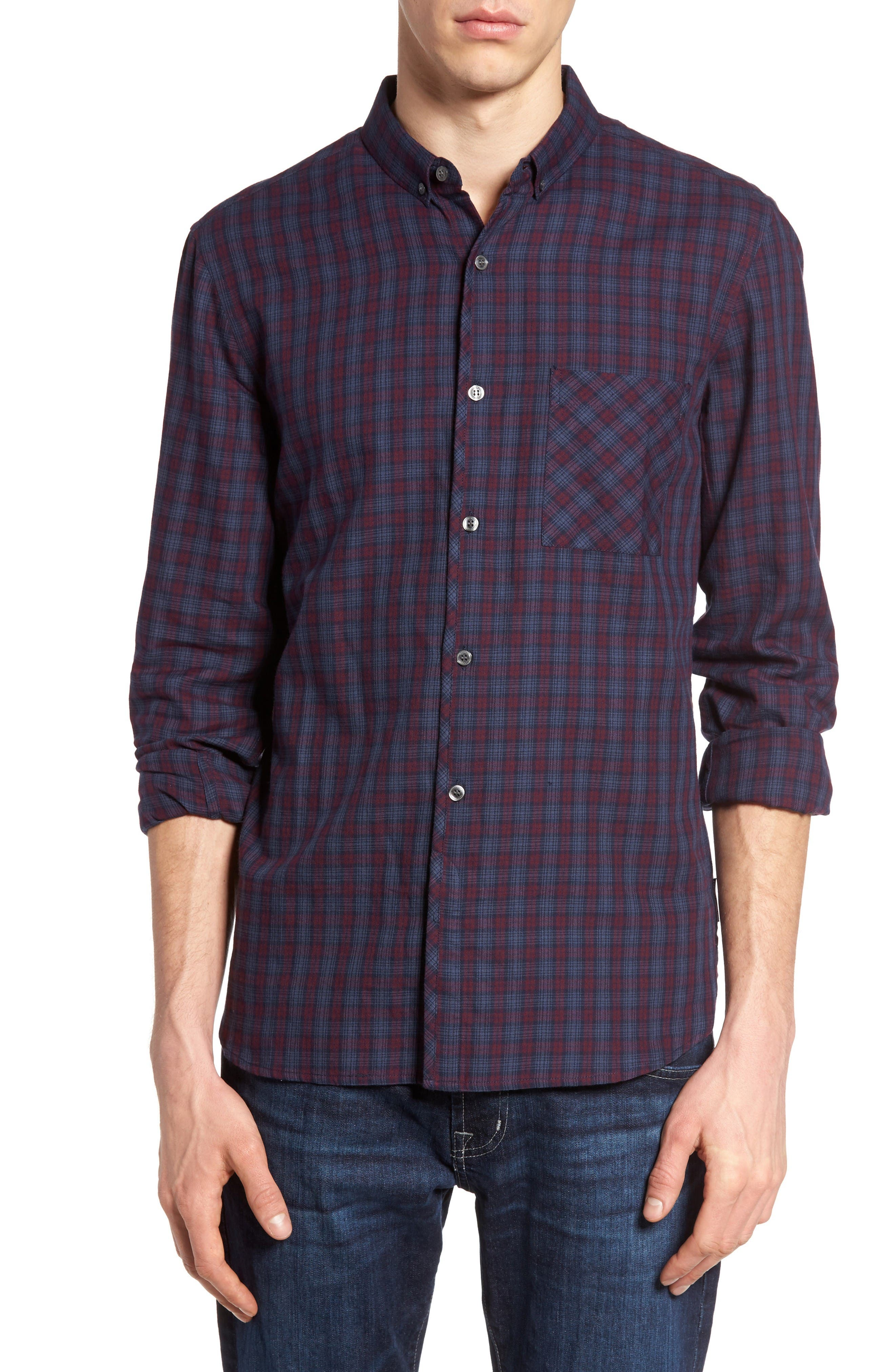 French Connection Check Twill Sport Shirt