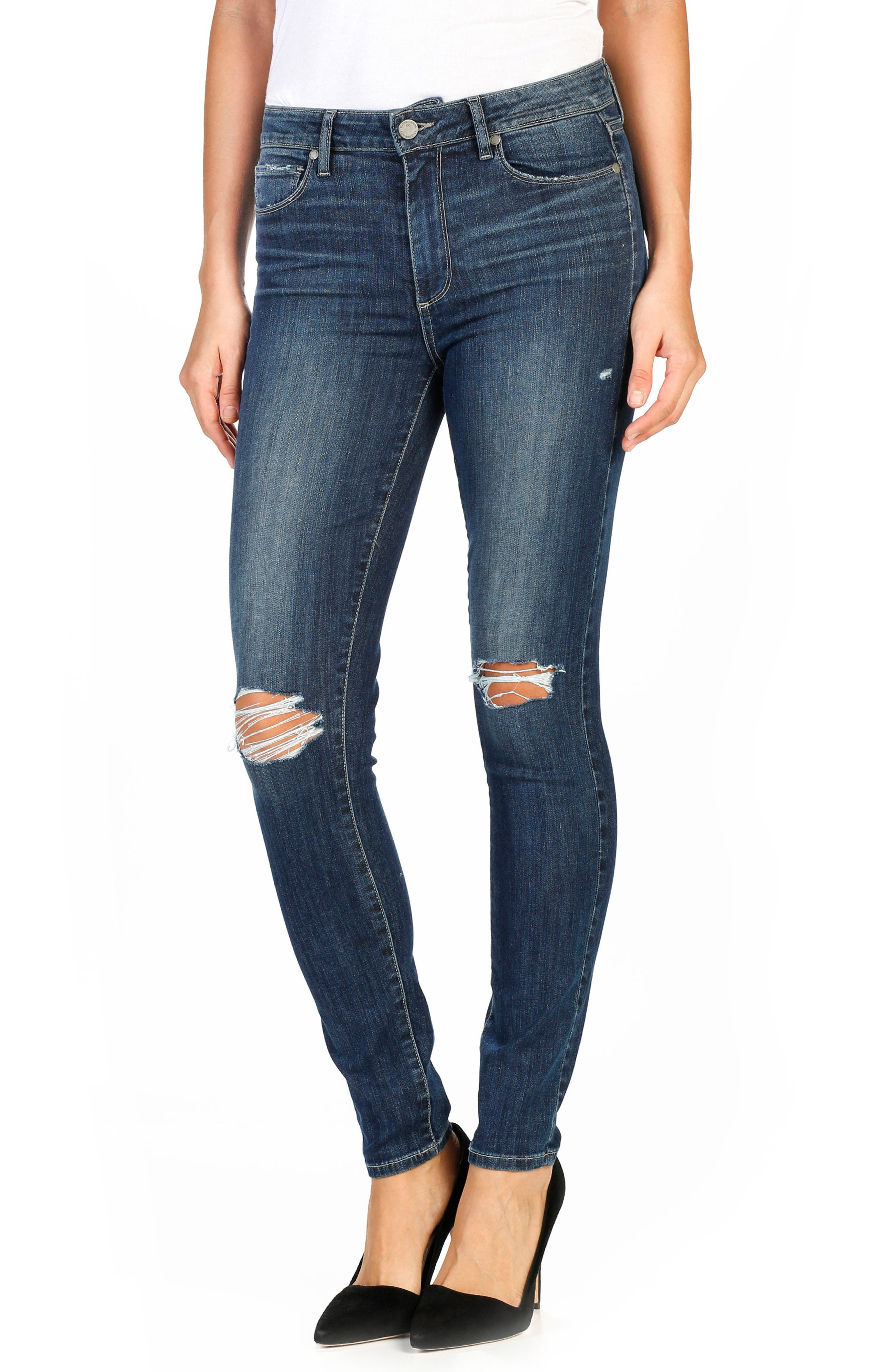 PAIGE Legacy - Hoxton Ultra Skinny Jeans (Donna Destructed)