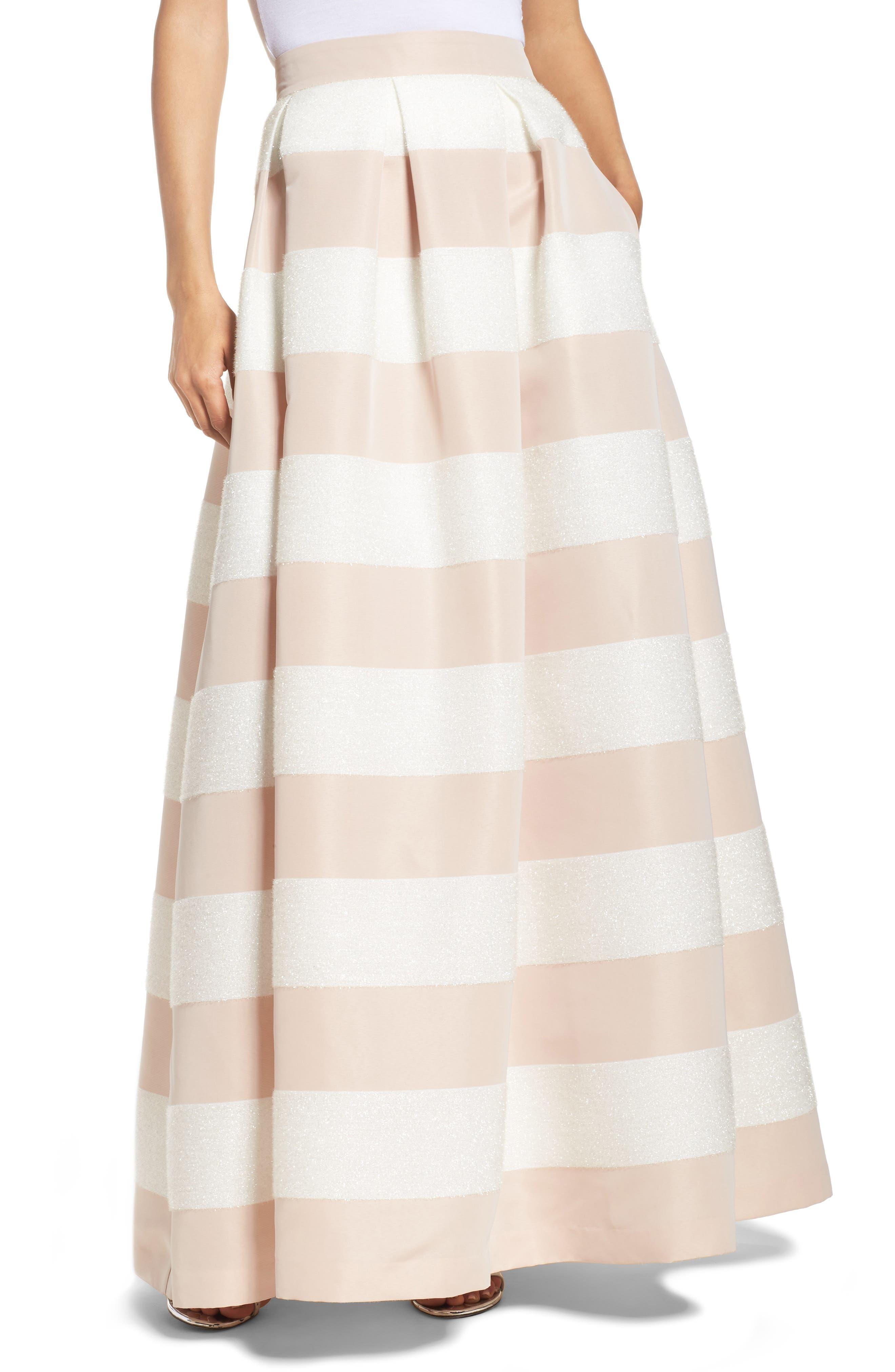 Eliza J Stripe Ball Skirt